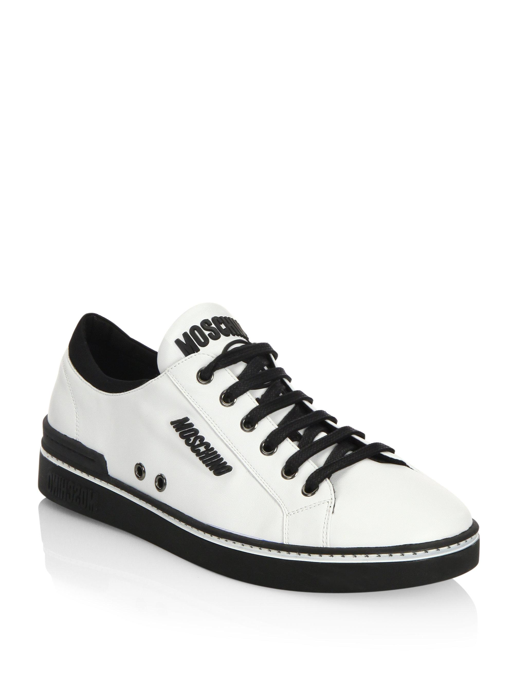 Moschino Low Top Leather Sneakers