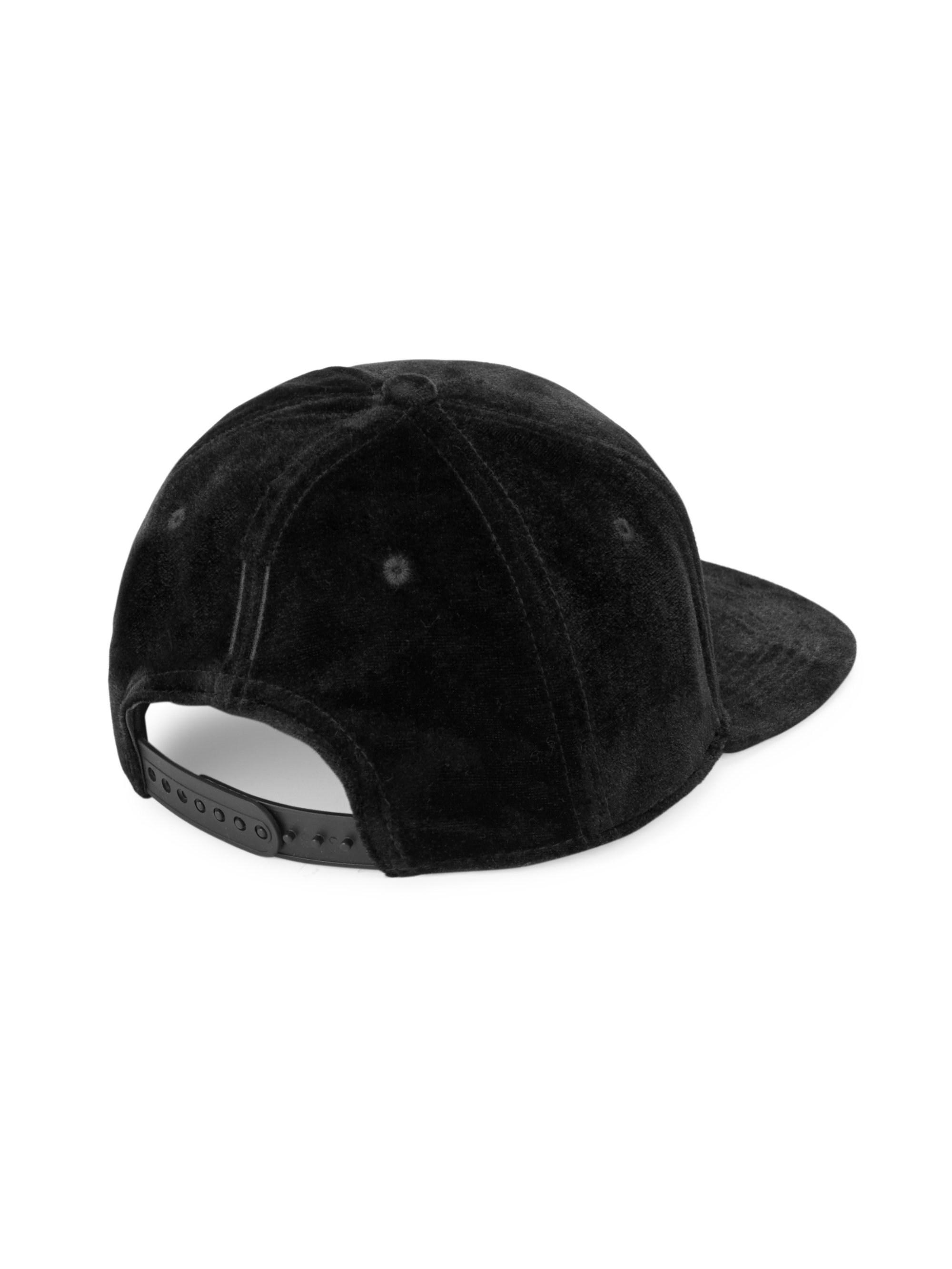 9e1ad5d2b2e Gents - Black Chairman Velvet Baseball Cap for Men - Lyst. View fullscreen