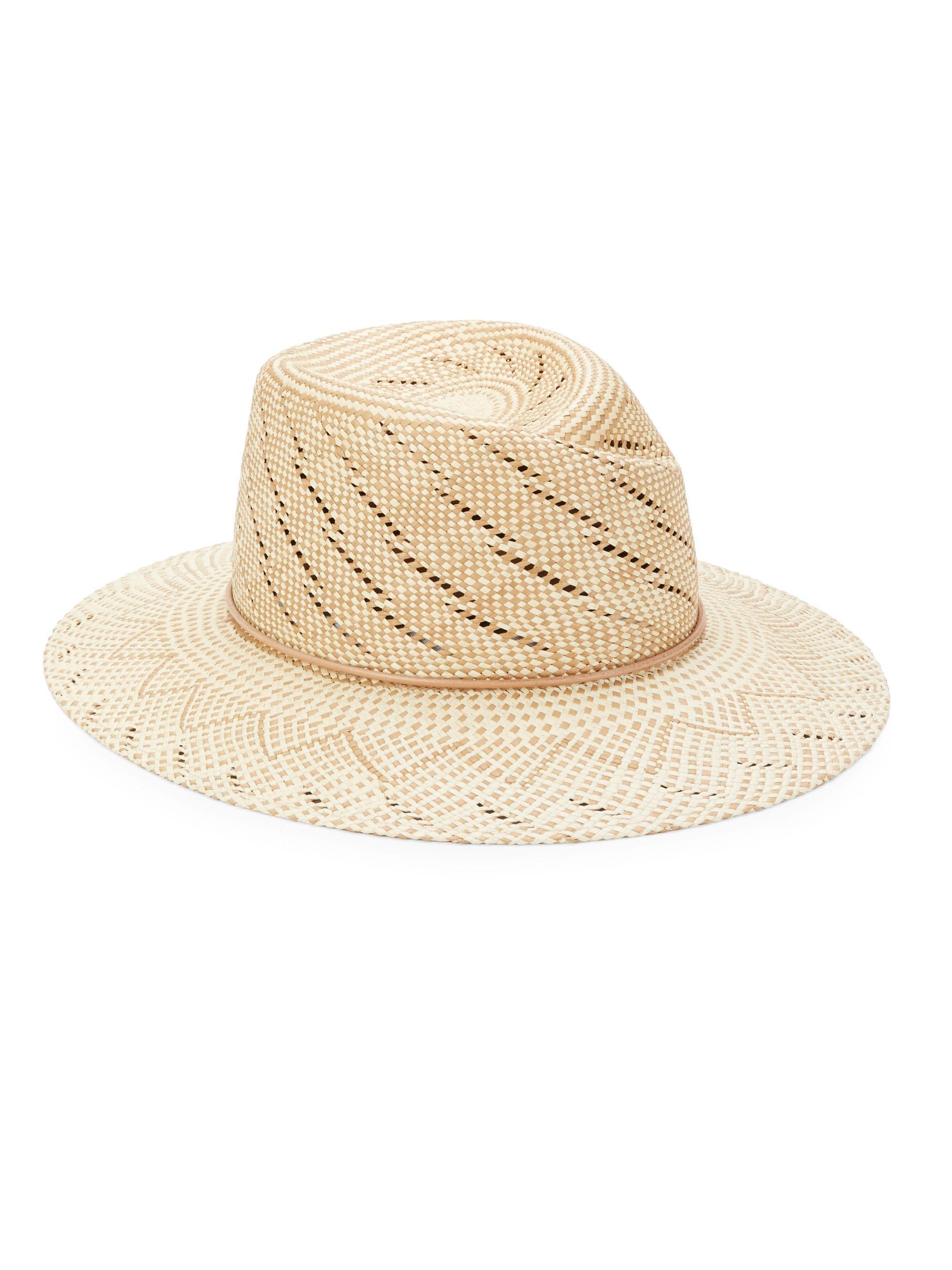 Lyst - Rag   Bone Women s Zoe Straw Hat - Taupe Multi - Size Small ... aabd14f7f40