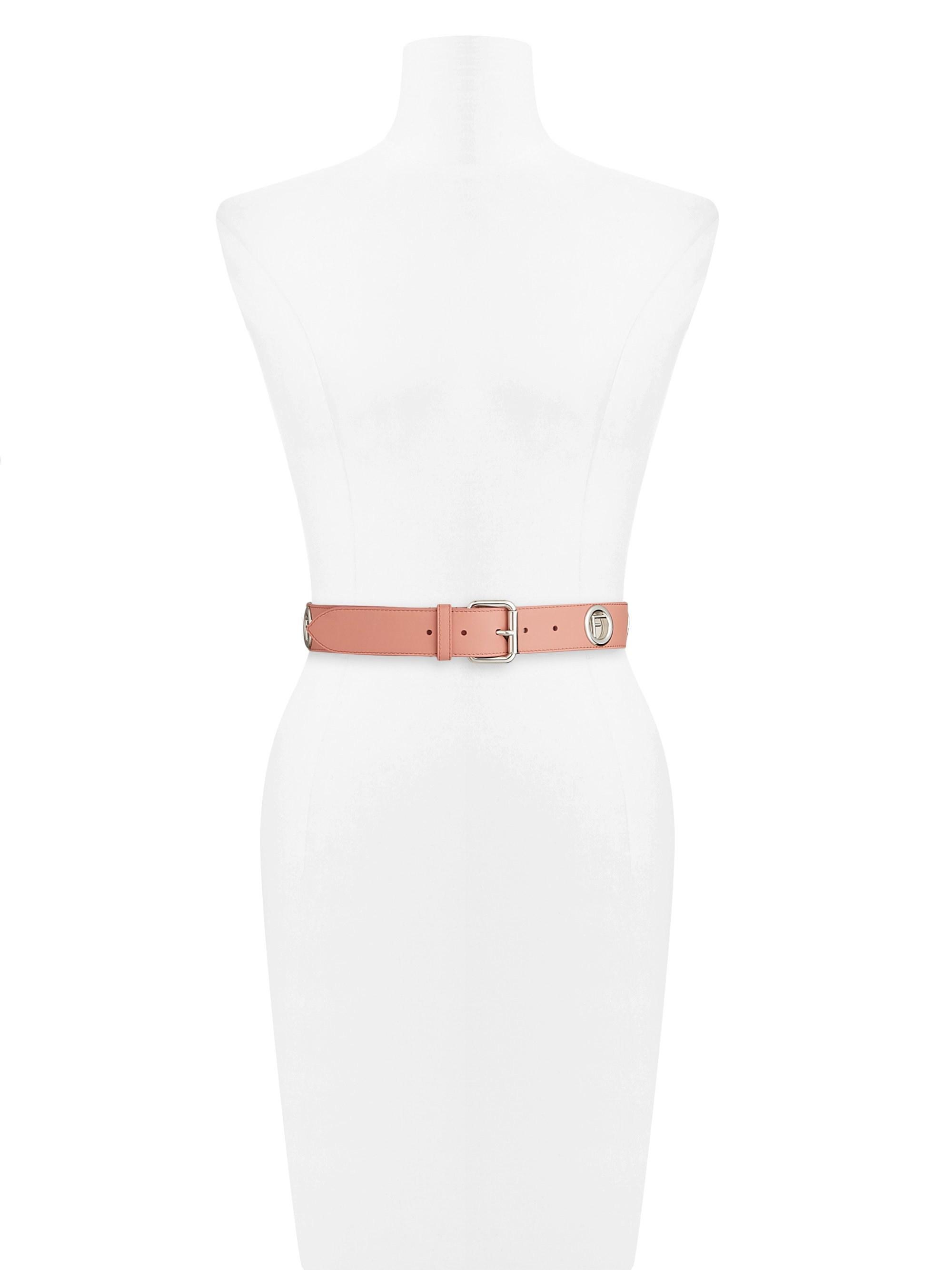 51d0d3d6 Lyst - Fendi Women's Logo Leather Belt - Macaroon - Size Xxs (28