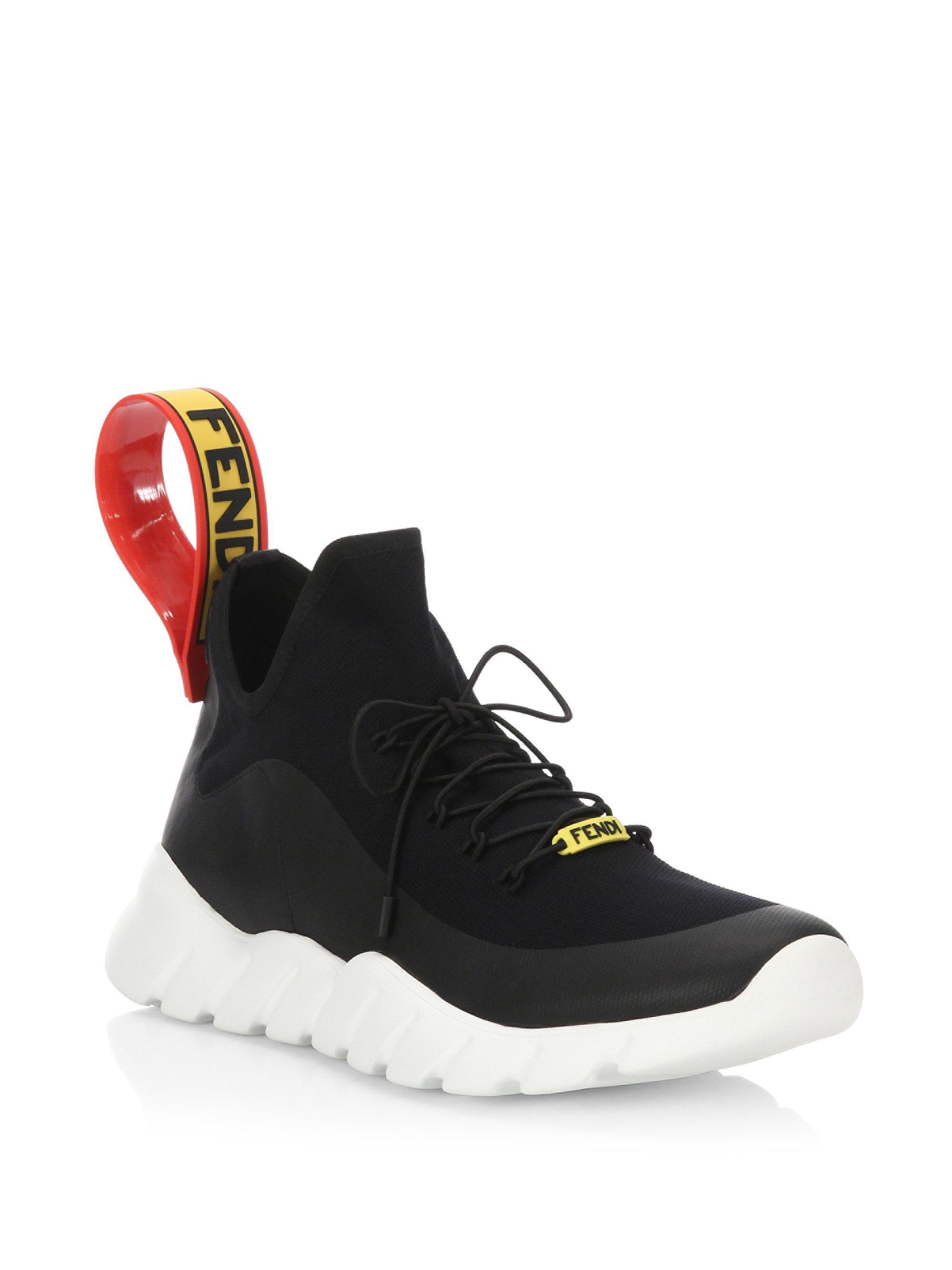 Fendi Chaussures De Sport Couleur Bloc - Blanc WoSHmnYD3t