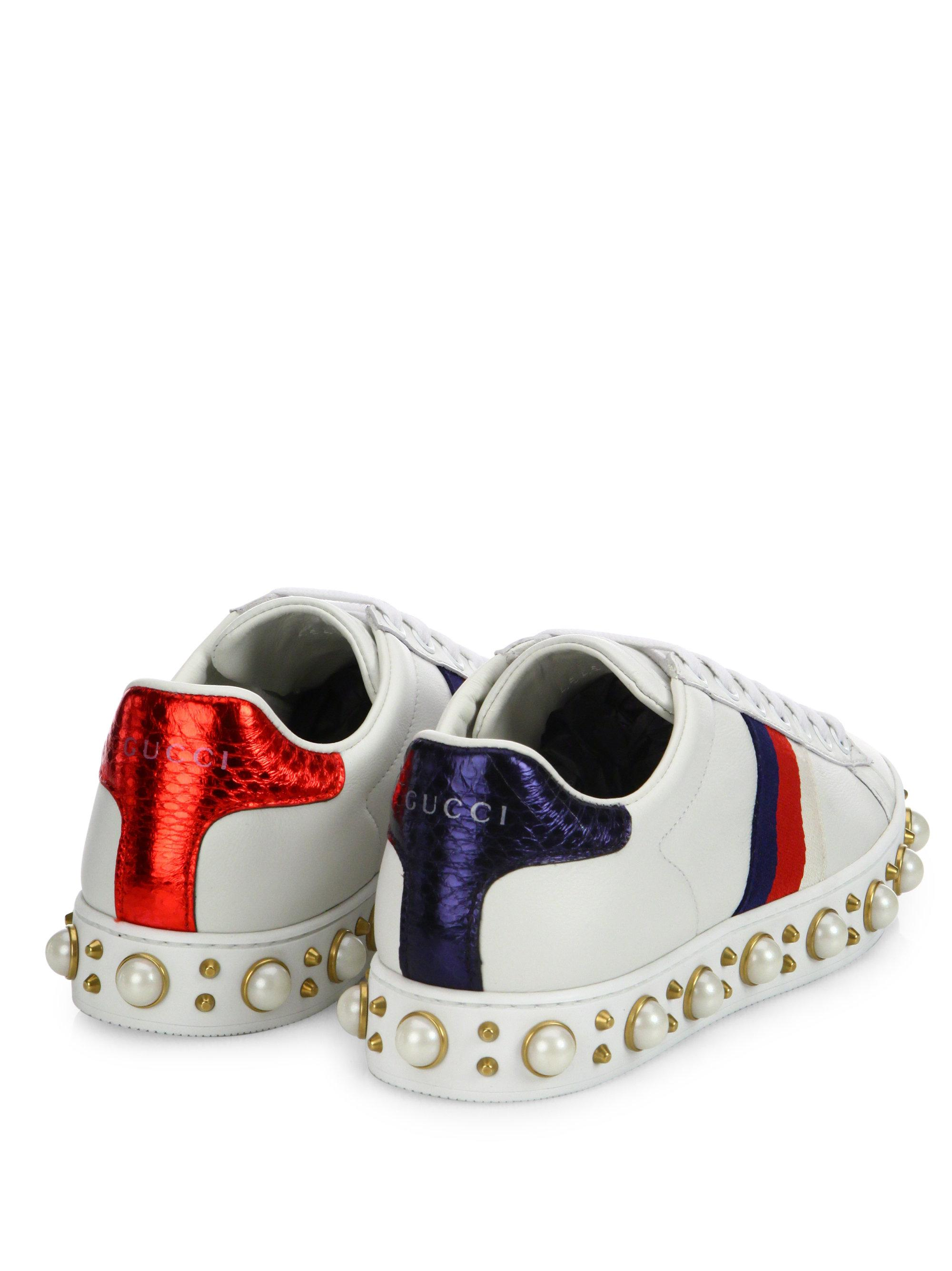 898cd963173 Lyst - Gucci Flat New Ace Sneaker