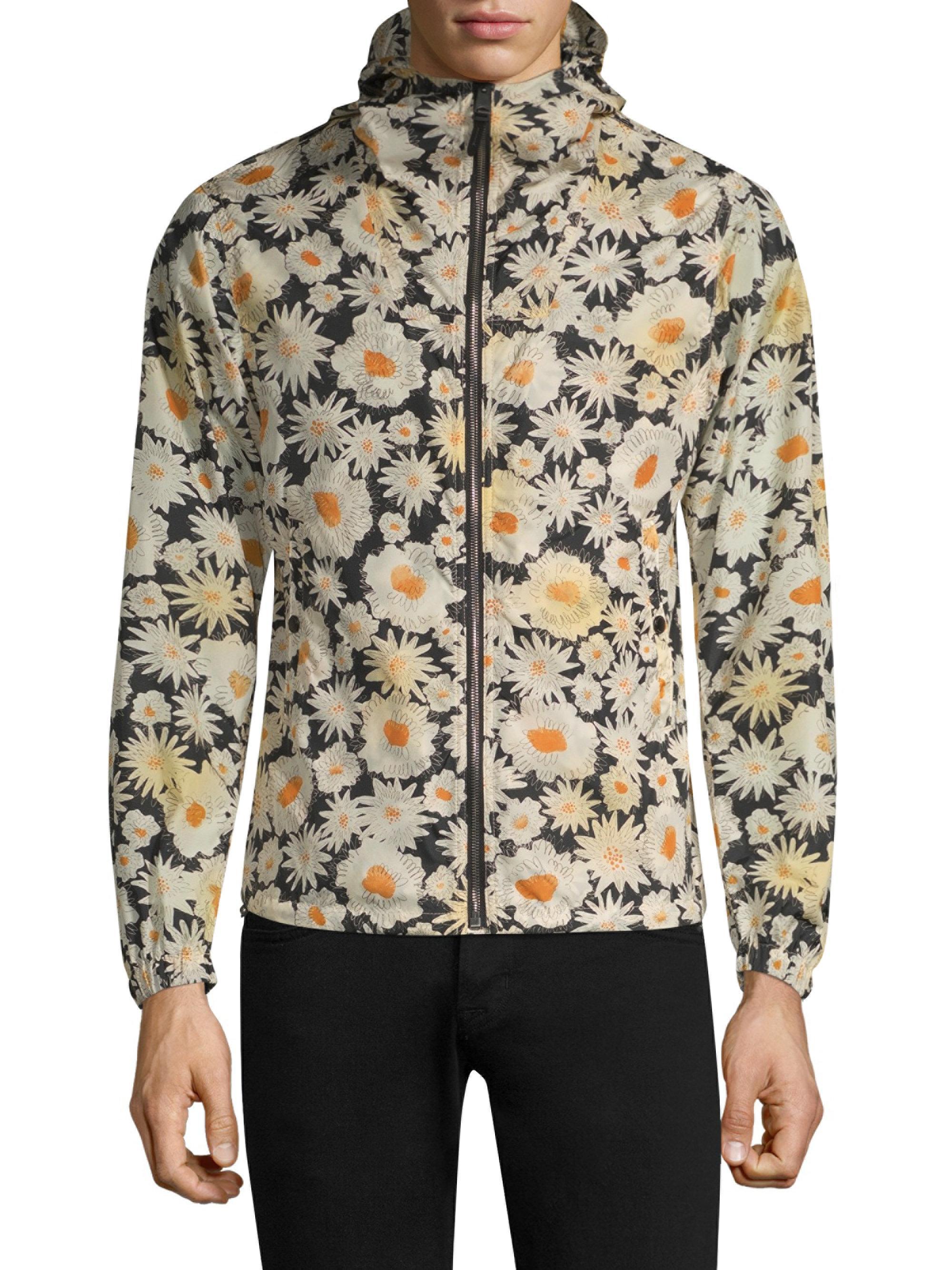 2754e571 Burberry Daisy-print Jacket in Black for Men - Lyst