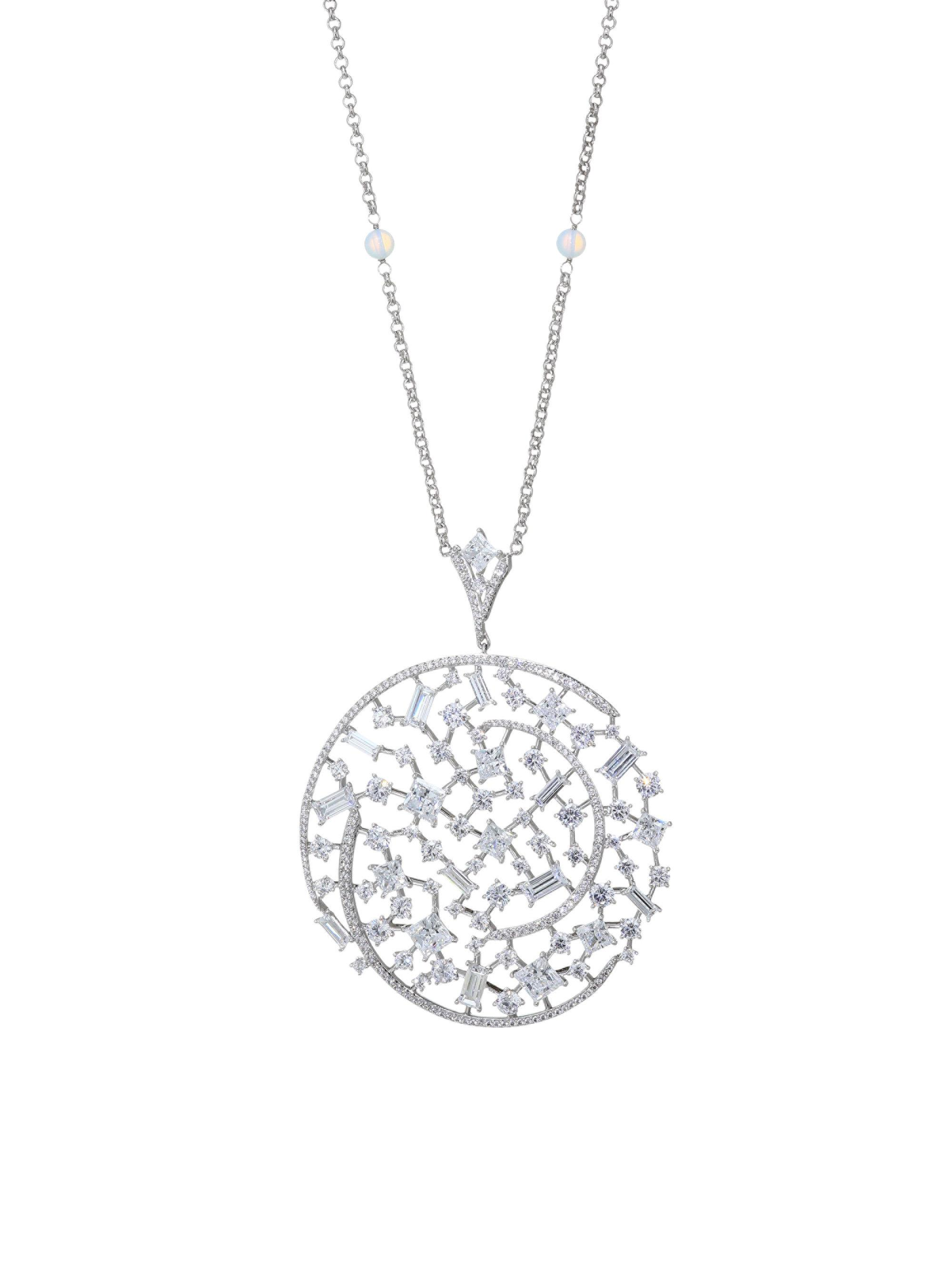 Lyst adriana orsini azure clear crystal pendant long necklace in adriana orsini womens metallic azure clear crystal pendant aloadofball Gallery