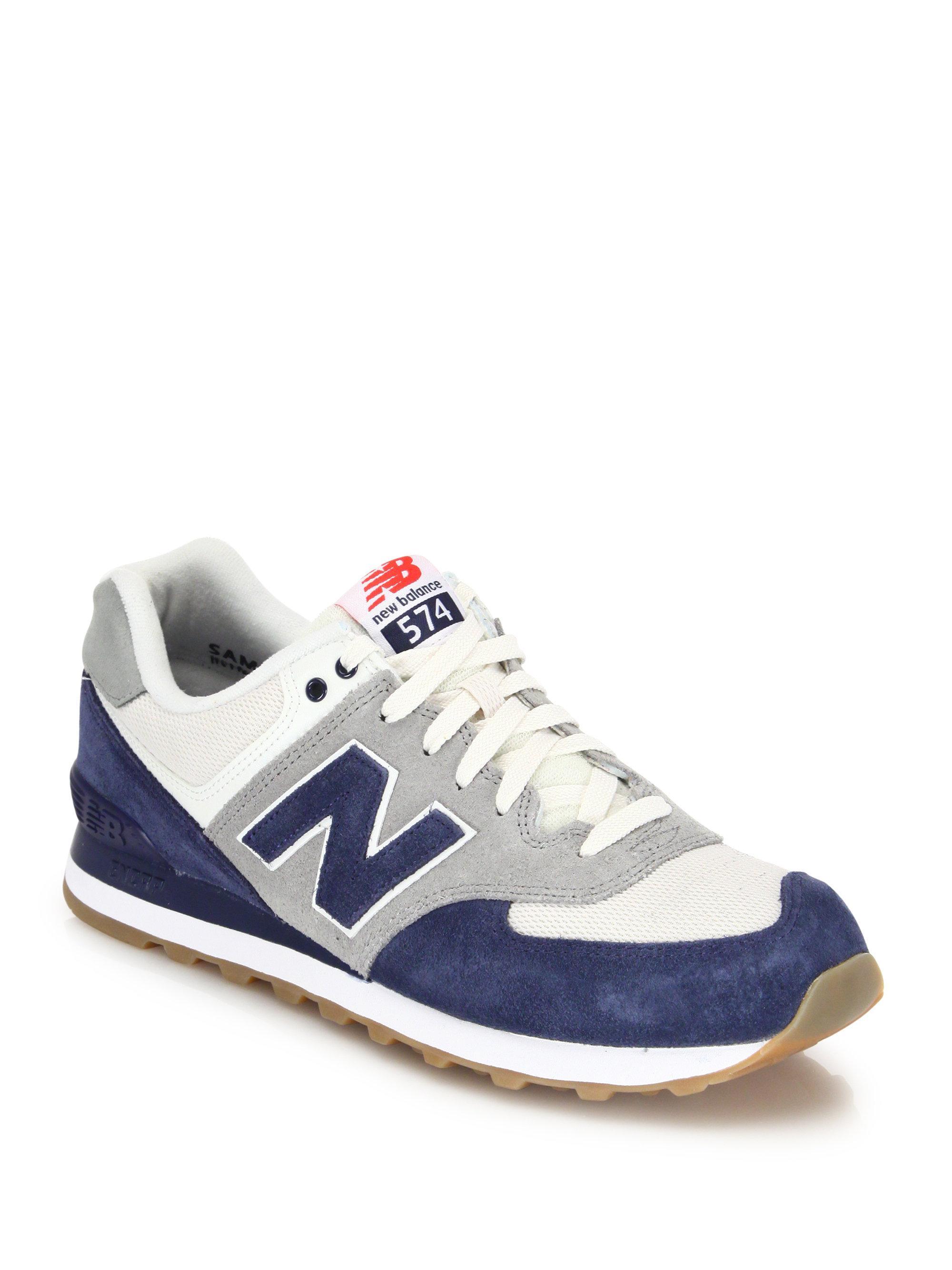 574 mesh panel sneakers - White New Balance E5ewq