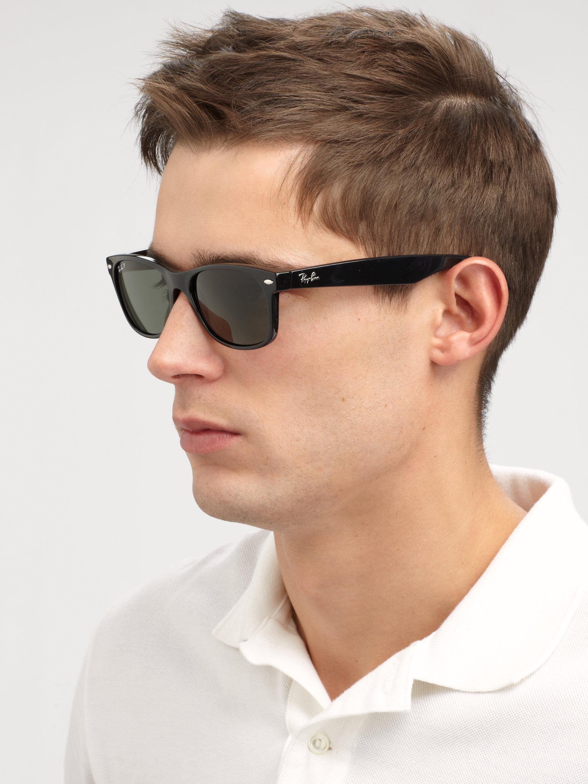 177998abcd Ray-Ban - Black 55mm New Wayfarer Sunglasses for Men - Lyst. View fullscreen