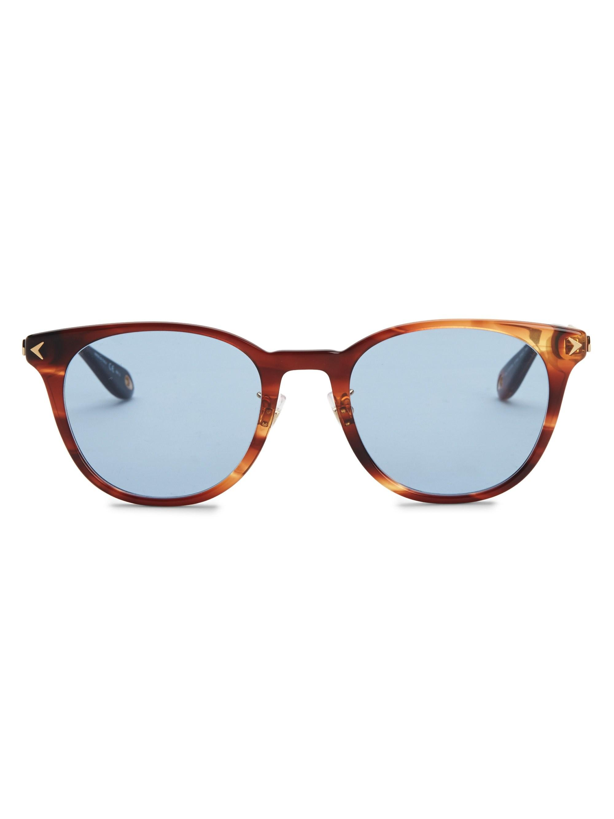 0d1c7421f Lyst - Givenchy Men's 51mm Round Sunglasses - Striped Bd in Blue for Men