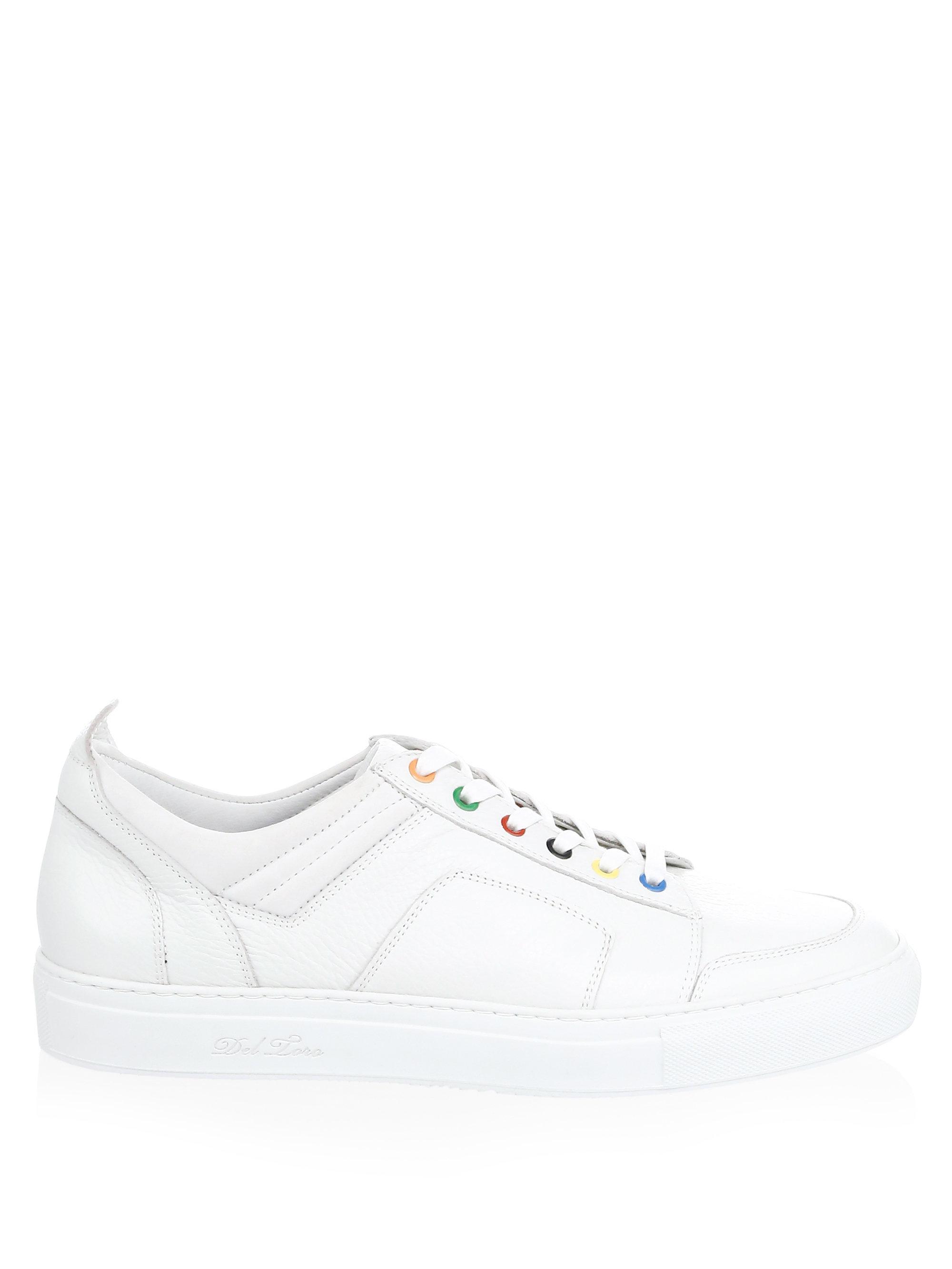 DEL TORO Multicolor Leather Low-Top Sneakers aTZpgU6Lz