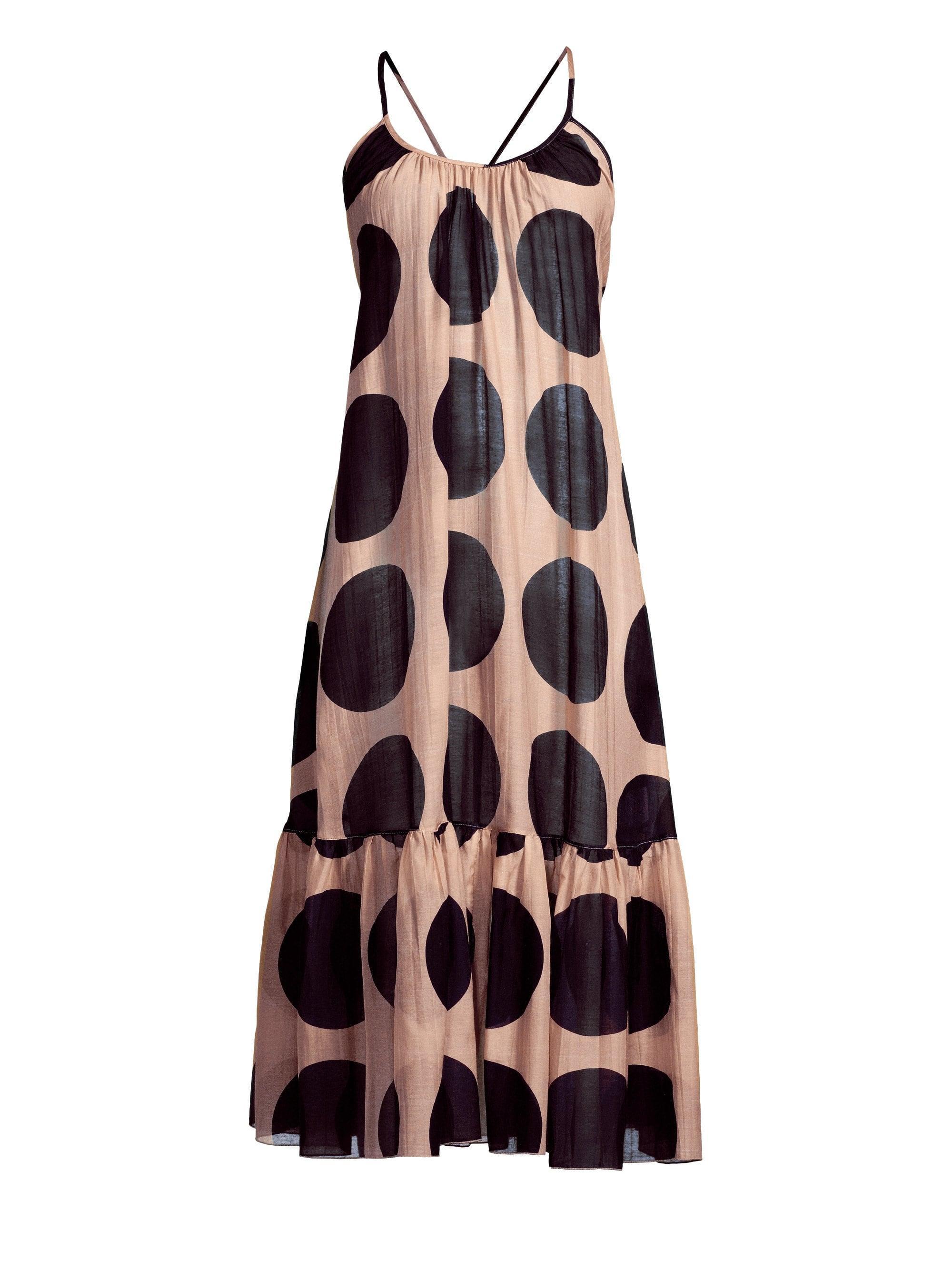 cf7acb27633 Lyst - Stella McCartney Women s Silk-blend Polka-dot Midi Dress ...