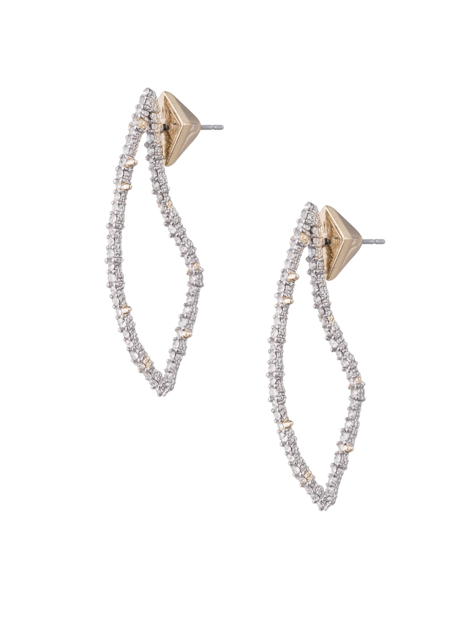 Alexis Bittar Women S Metallic Abstract Thorn Swarovski Crystal Post Earrings