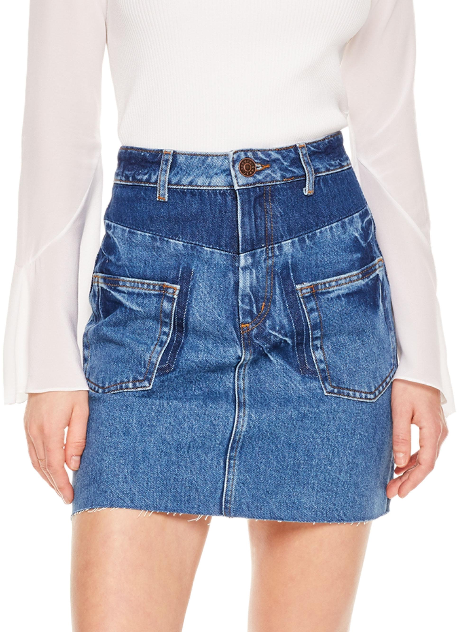 bcd2e0323a Gallery. Previously sold at: Saks Fifth Avenue · Women's Button Down Skirts  Women's Denim Skirts