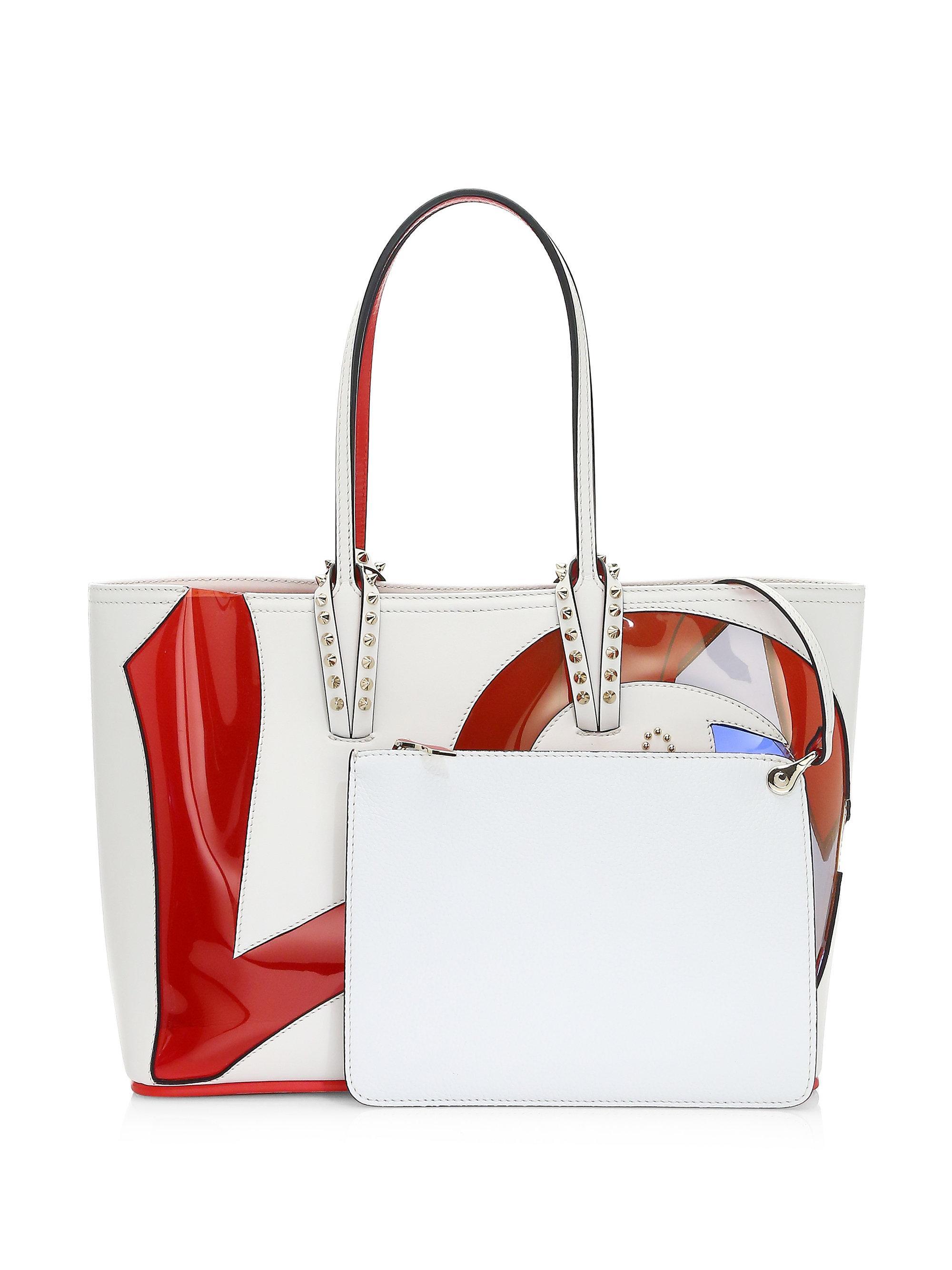 96585c0e594a Christian Louboutin Cabata Love Calf Paris Tote Bag in Red - Lyst