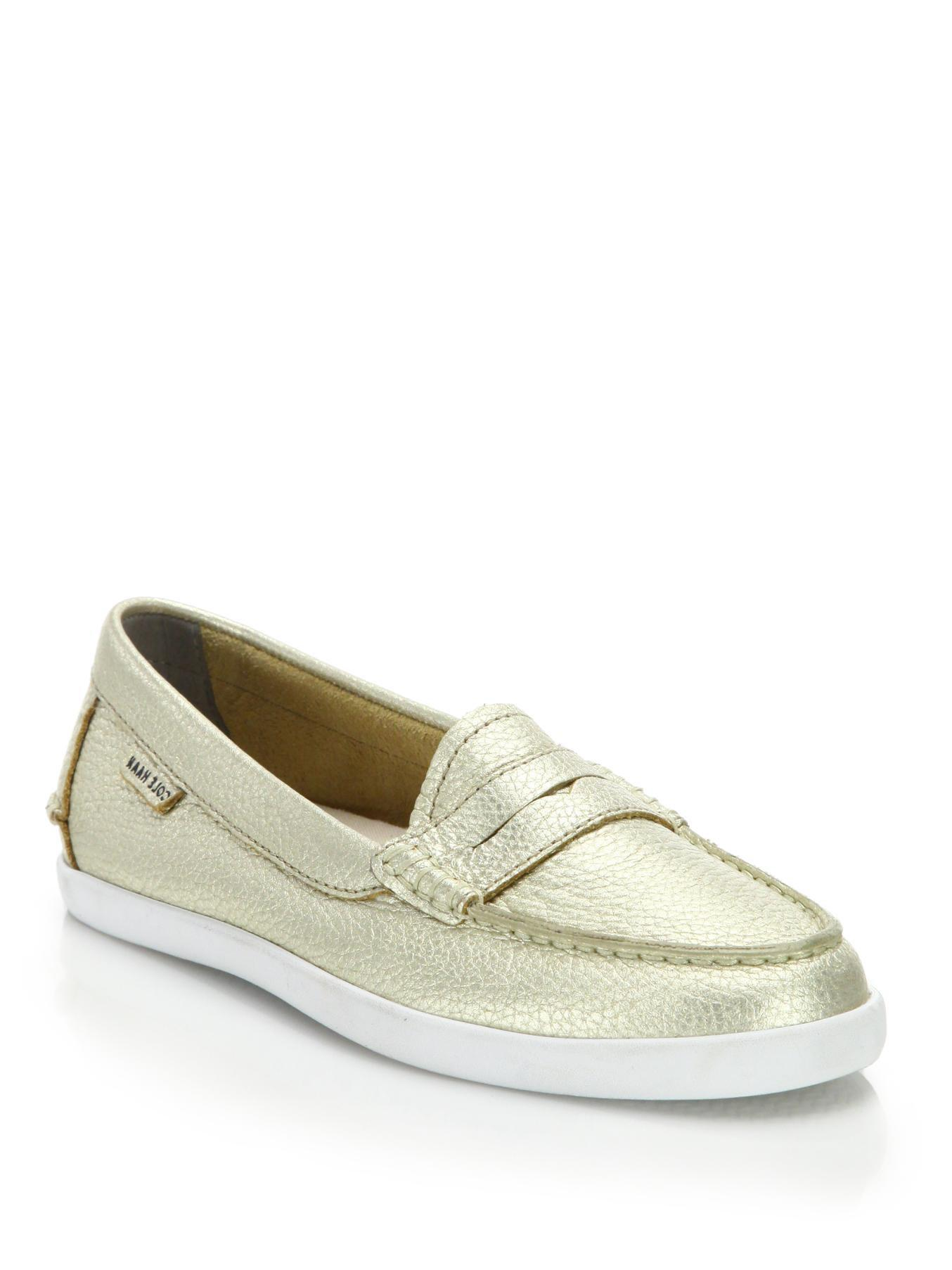 Cole Haan Pinch Weekender Metallic Leather Loafers bSBKzv7