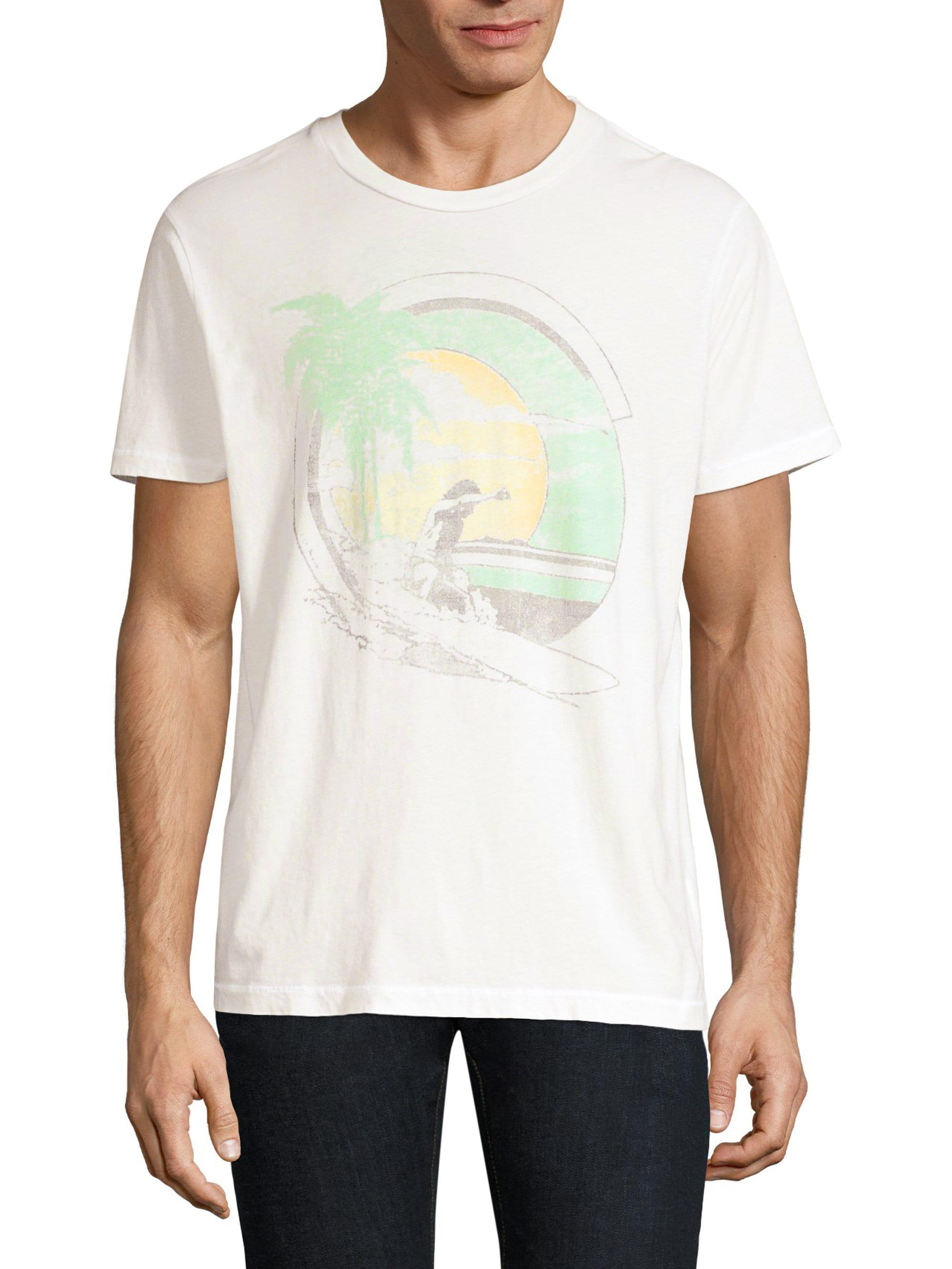 110ec96b Lyst - Sol Angeles Slim-fit Graphic Tee in White for Men