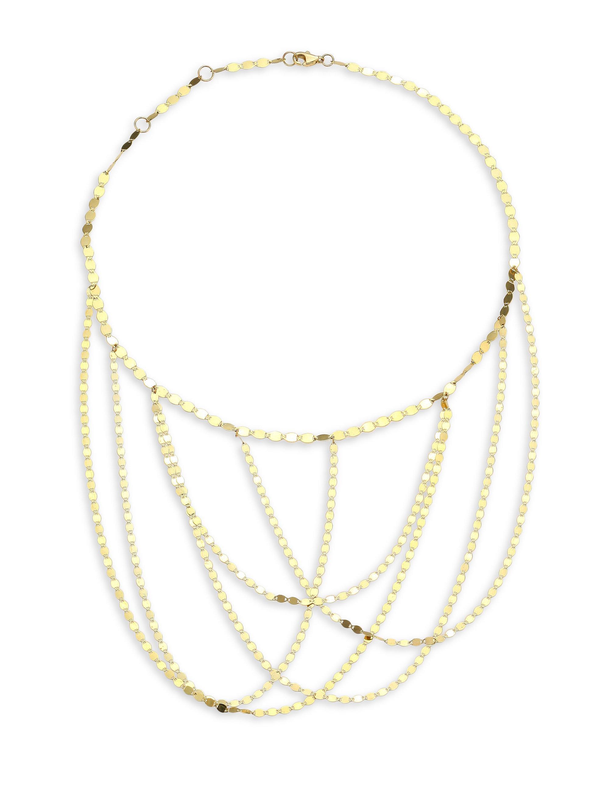 Lana Jewelry Fifteen Mini Disc Chain Choker Necklace D0vsjXT