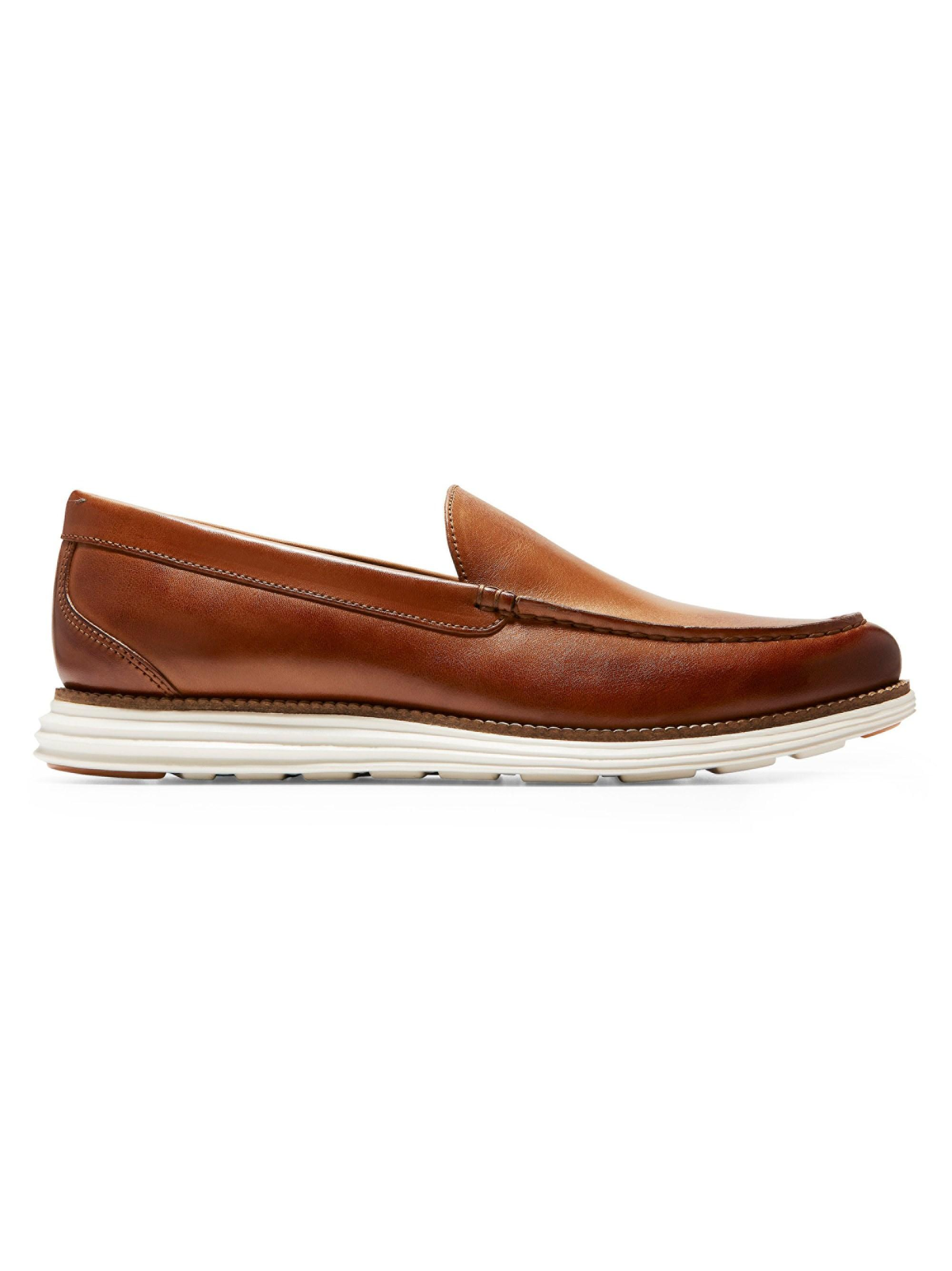 20b72a9d5 Cole Haan. Brown Men's Original Grand Venetian Leather Loafers - British Tan  Ivory