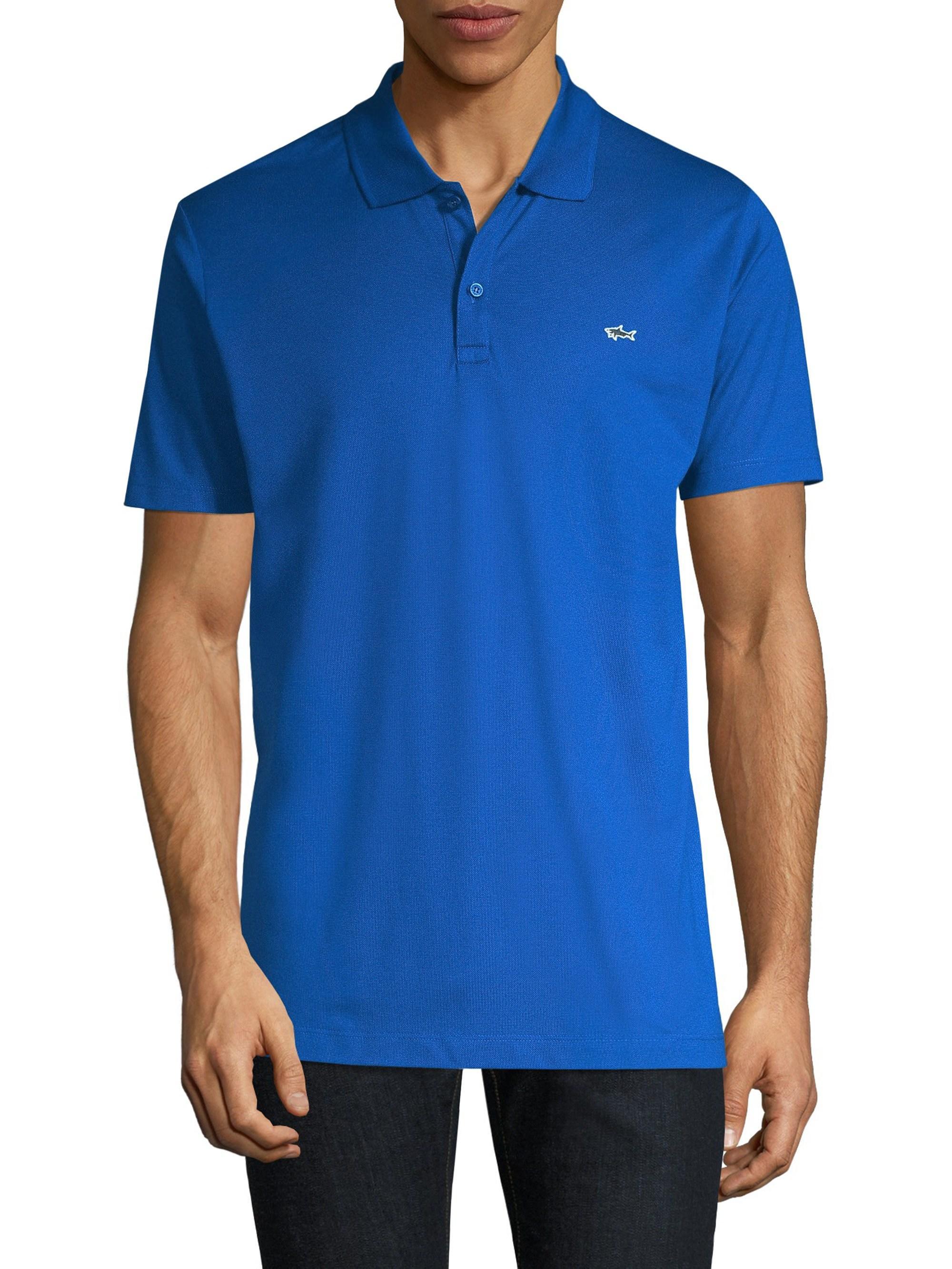 a7a93168 Paul & Shark - Men's Smart Knitted Polo Shirt - Cobalt Blue - Size Large  for. View fullscreen