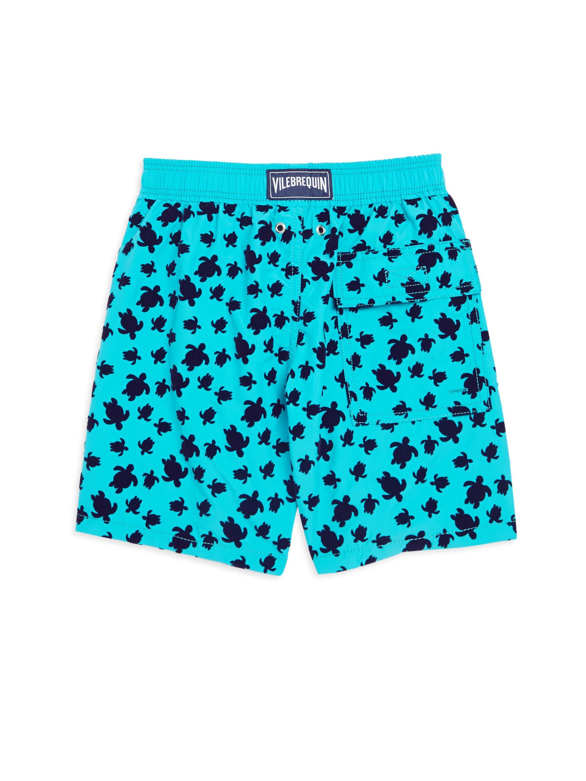 2e33fc6efd Vilebrequin - Blue Moorea Turtle Flocked Swim Shorts for Men - Lyst. View  fullscreen