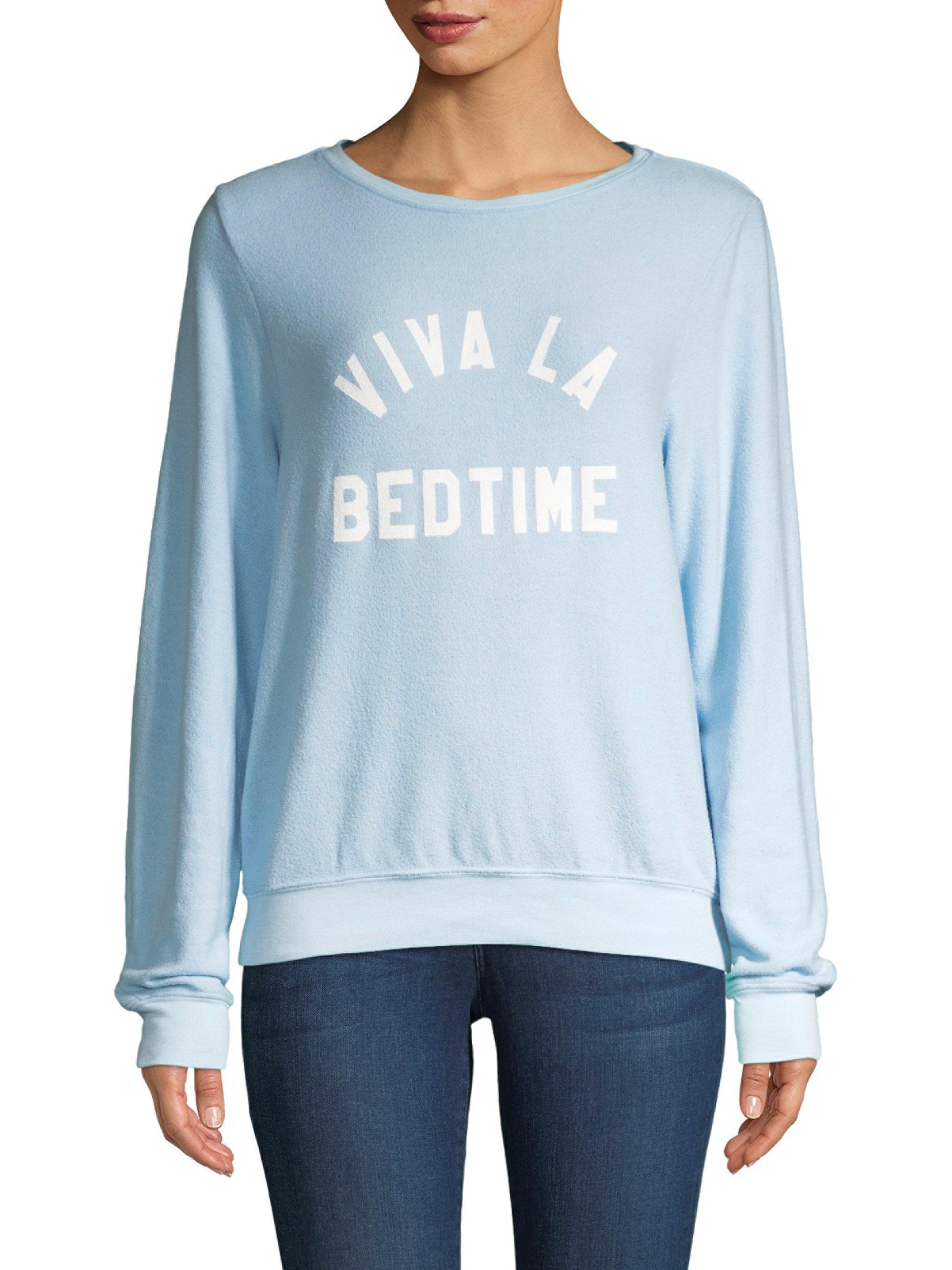 Wildfox. Women's Blue Viva La Bedtime Sweatshirt