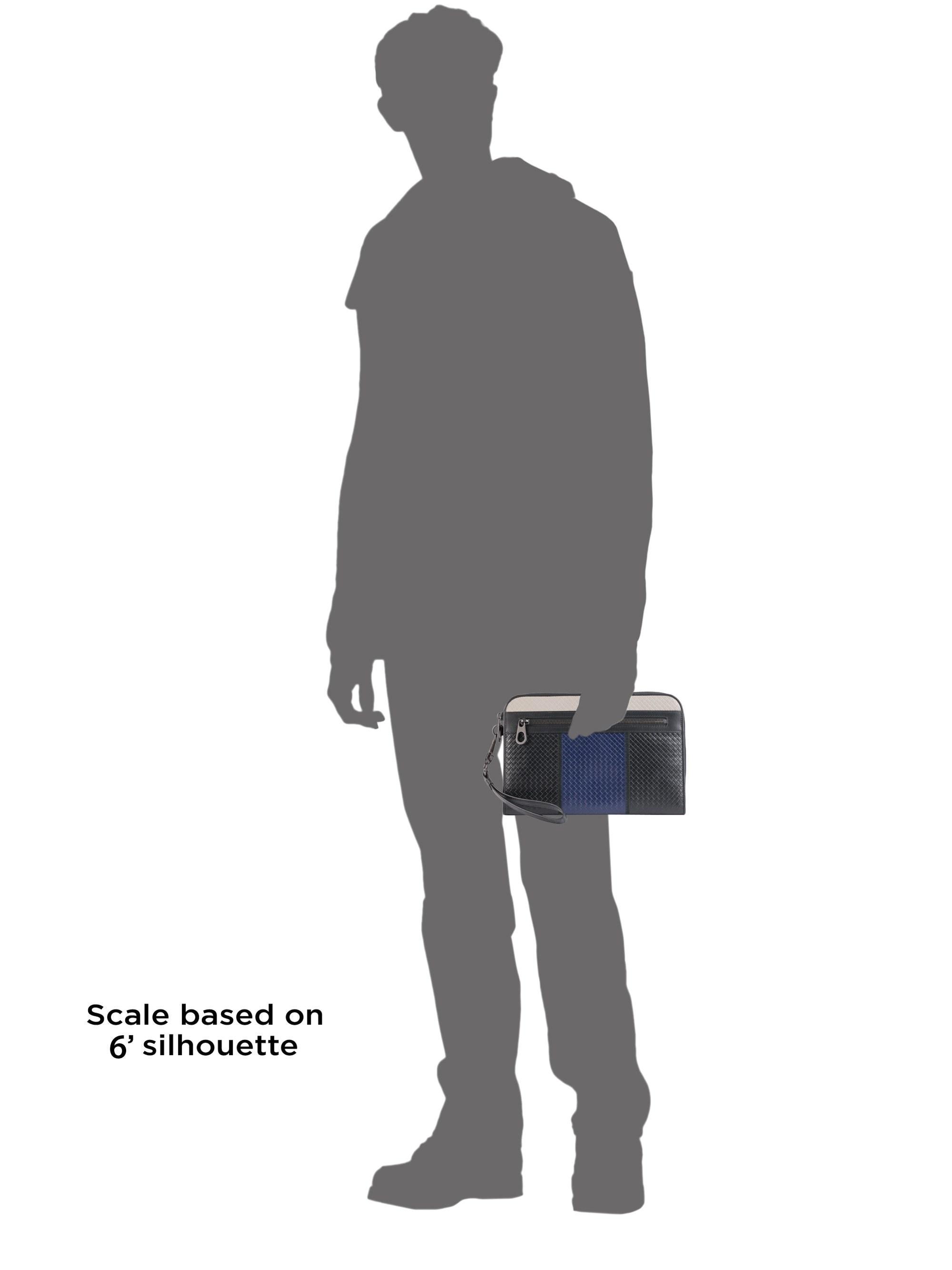 49099ef34ba1 Bottega Veneta - Black Embossed Woven Leather Document Holder for Men - Lyst.  View fullscreen