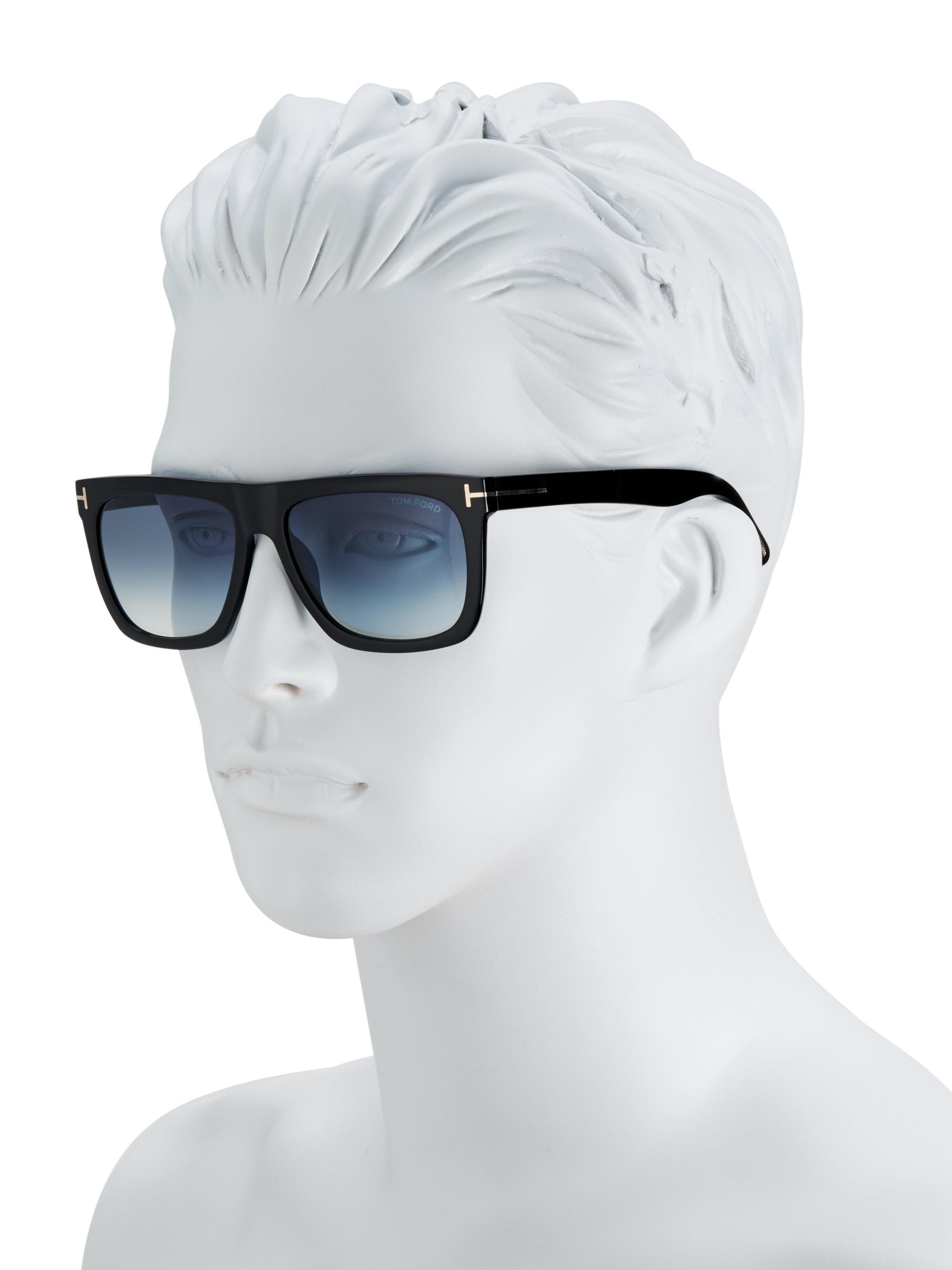da7bb5a1de71b Tom Ford Morgan 57mm Soft Square Sunglasses in Black for Men - Lyst