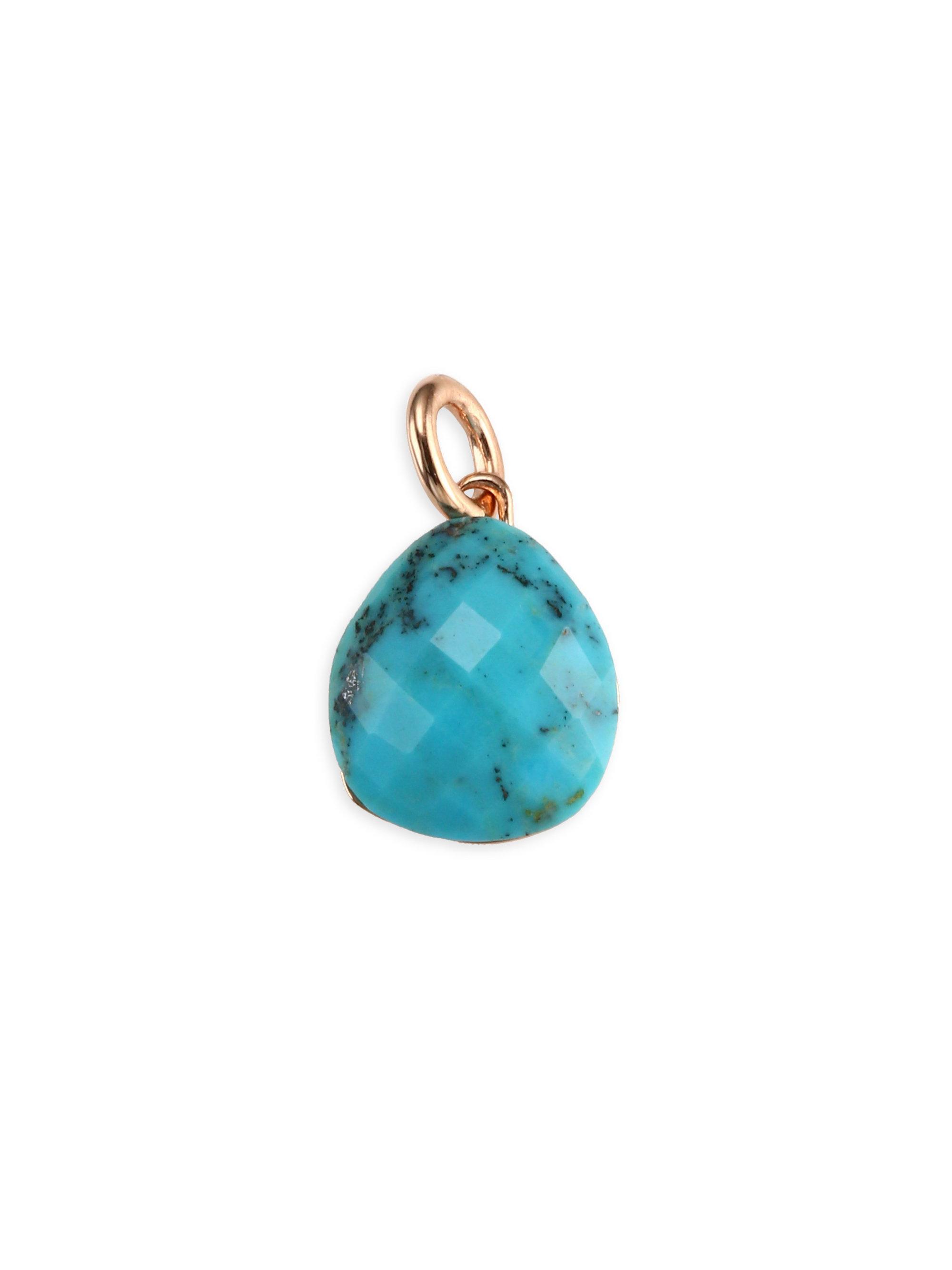 Rose Gold Nura Pebble Pendant Turquoise Monica Vinader mYeKL6Vty