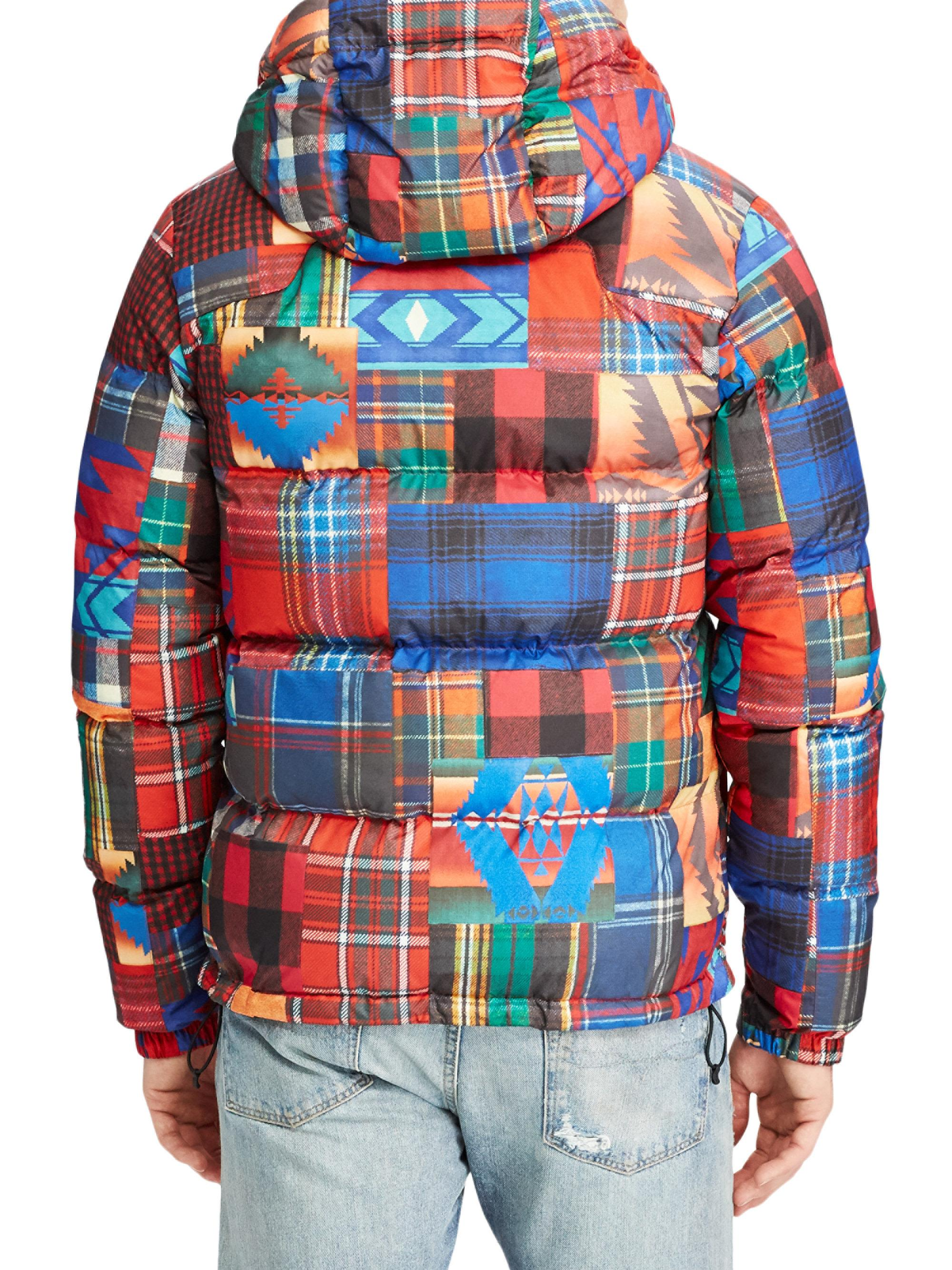 Lyst - Polo Ralph Lauren Plaid-print Ripstop Hooded Puffer