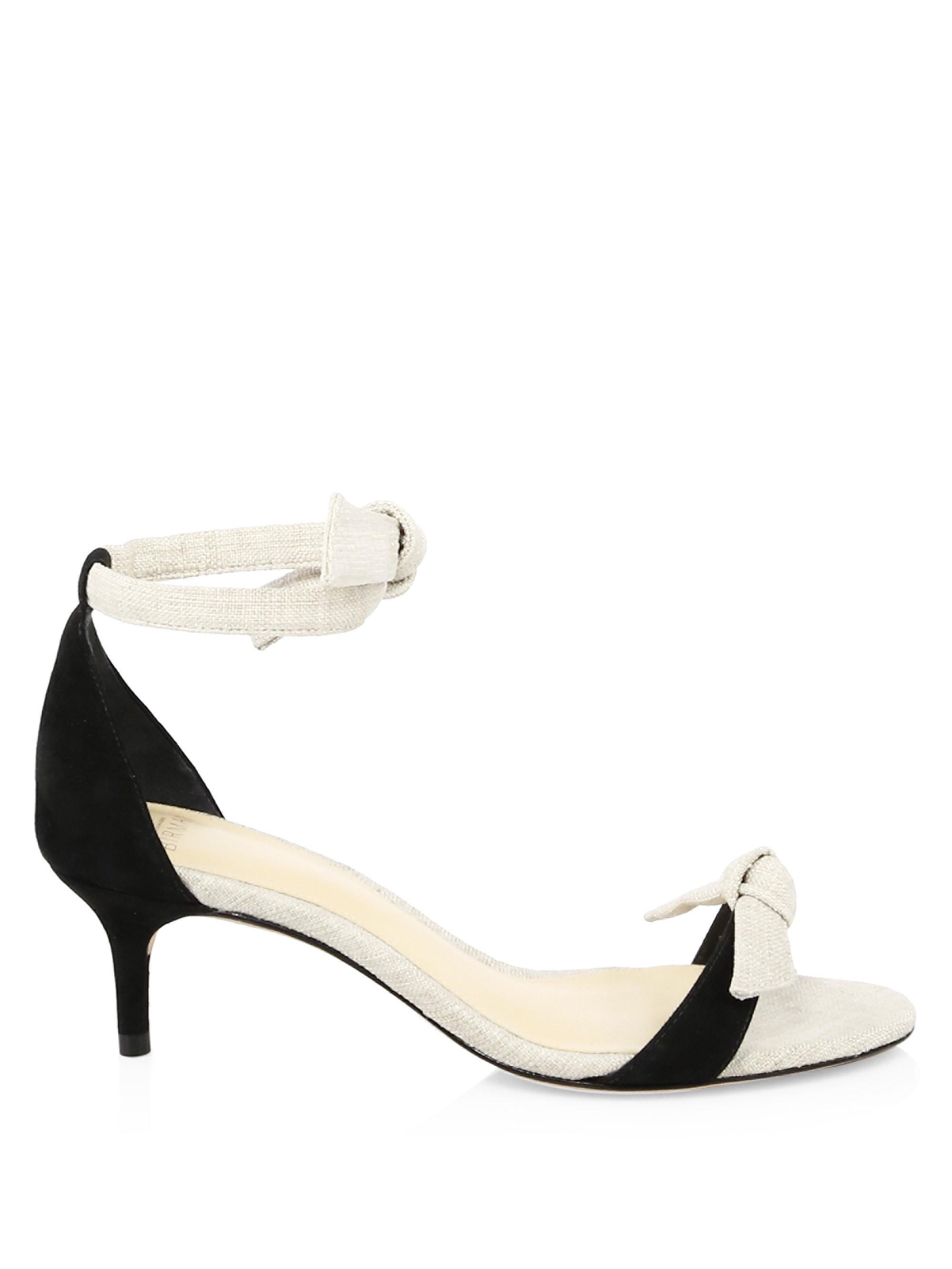 ALEXANDRE BIRMAN Calrita Linen & Suede Sandals cEBJs4EvRW