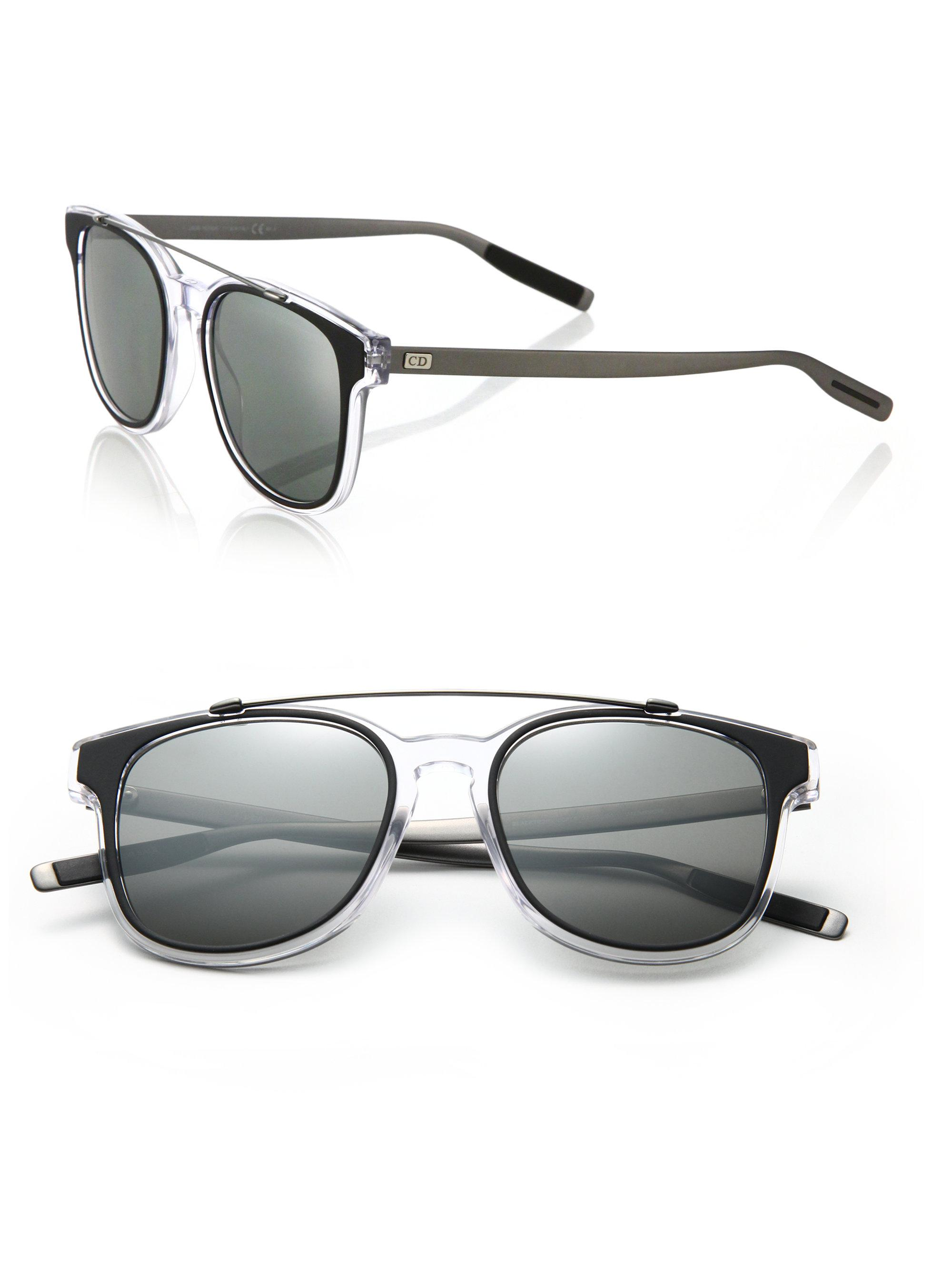 4a126f5a2a493 Lyst - Dior Homme Black Tie 211s 52mm Mirror Sunglasses in Black for Men
