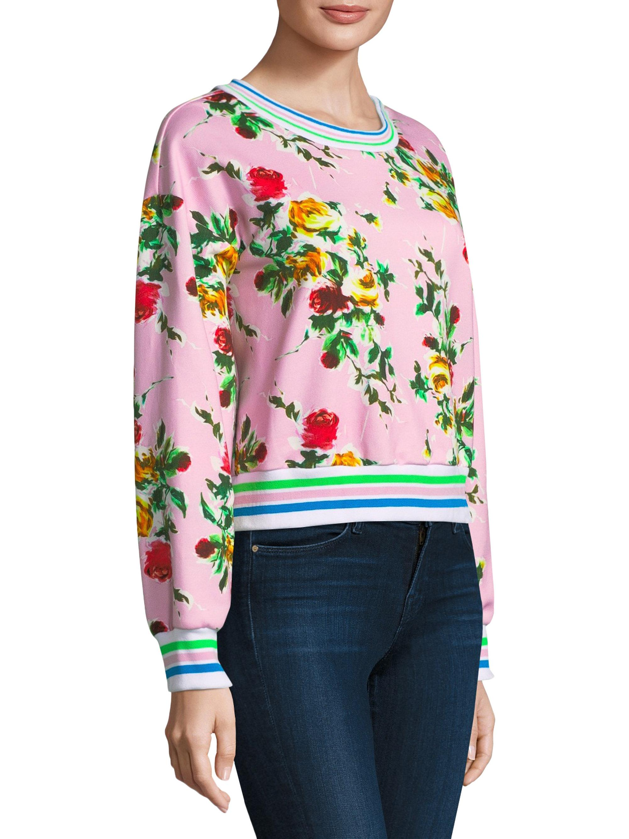 c5aa726479f8 Lyst - MILLY Tyler Floral Sweatshirt