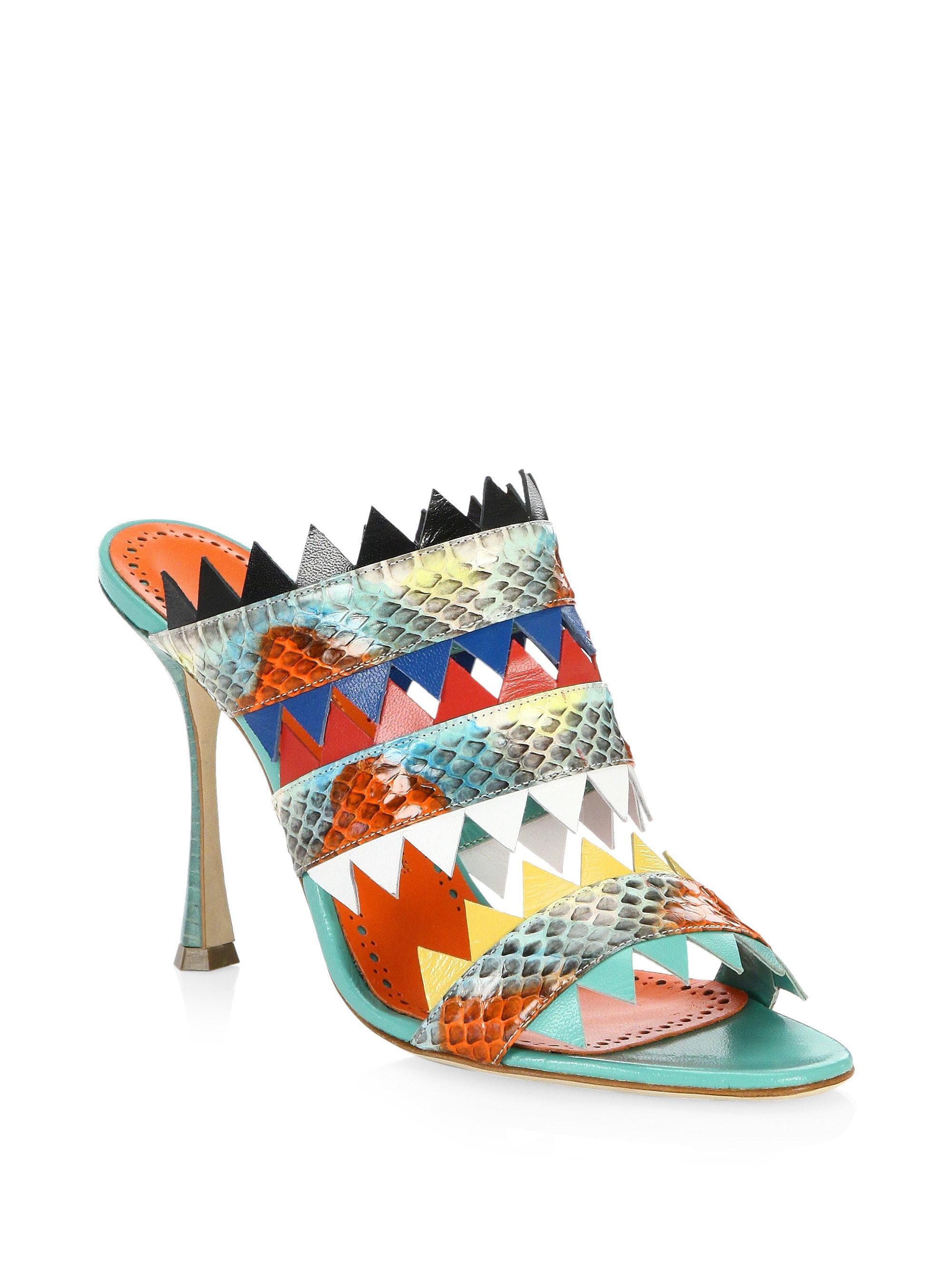 multi coloured Arpege 105 snakeskin sandals - Multicolour Manolo Blahnik 9YQjRoL