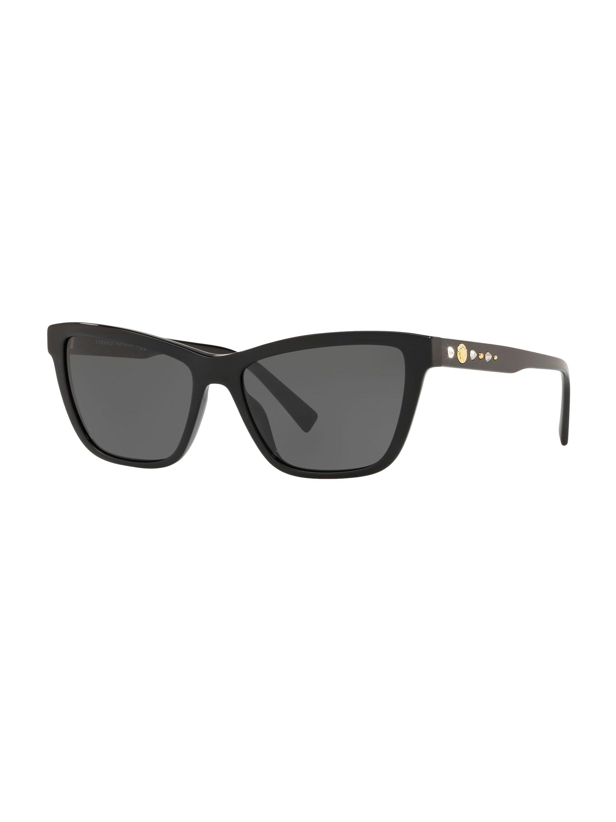 2a7862cd5d34 Versace - Black 0ve4354b 55mm Wayfarer Sunglasses - Lyst. View fullscreen