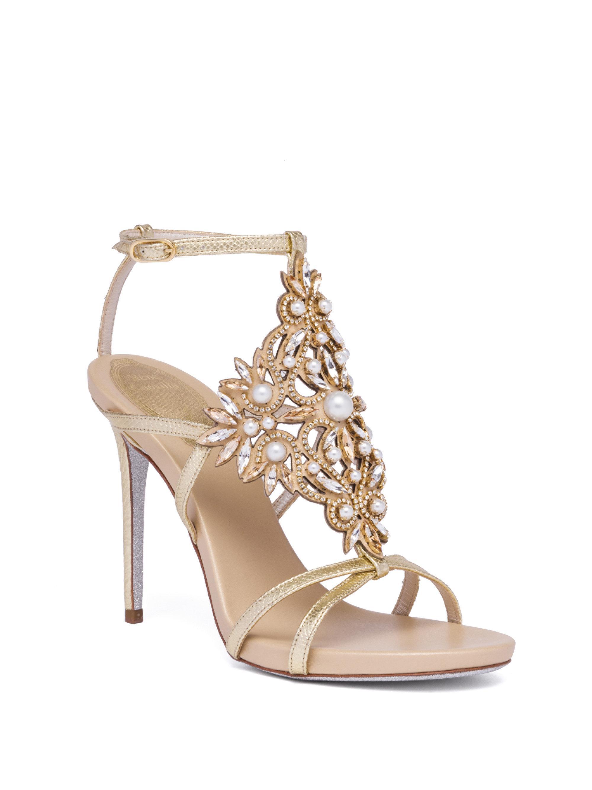 René Caovilla Embellished Metallic Sandals clearance geniue stockist dBlbjJO