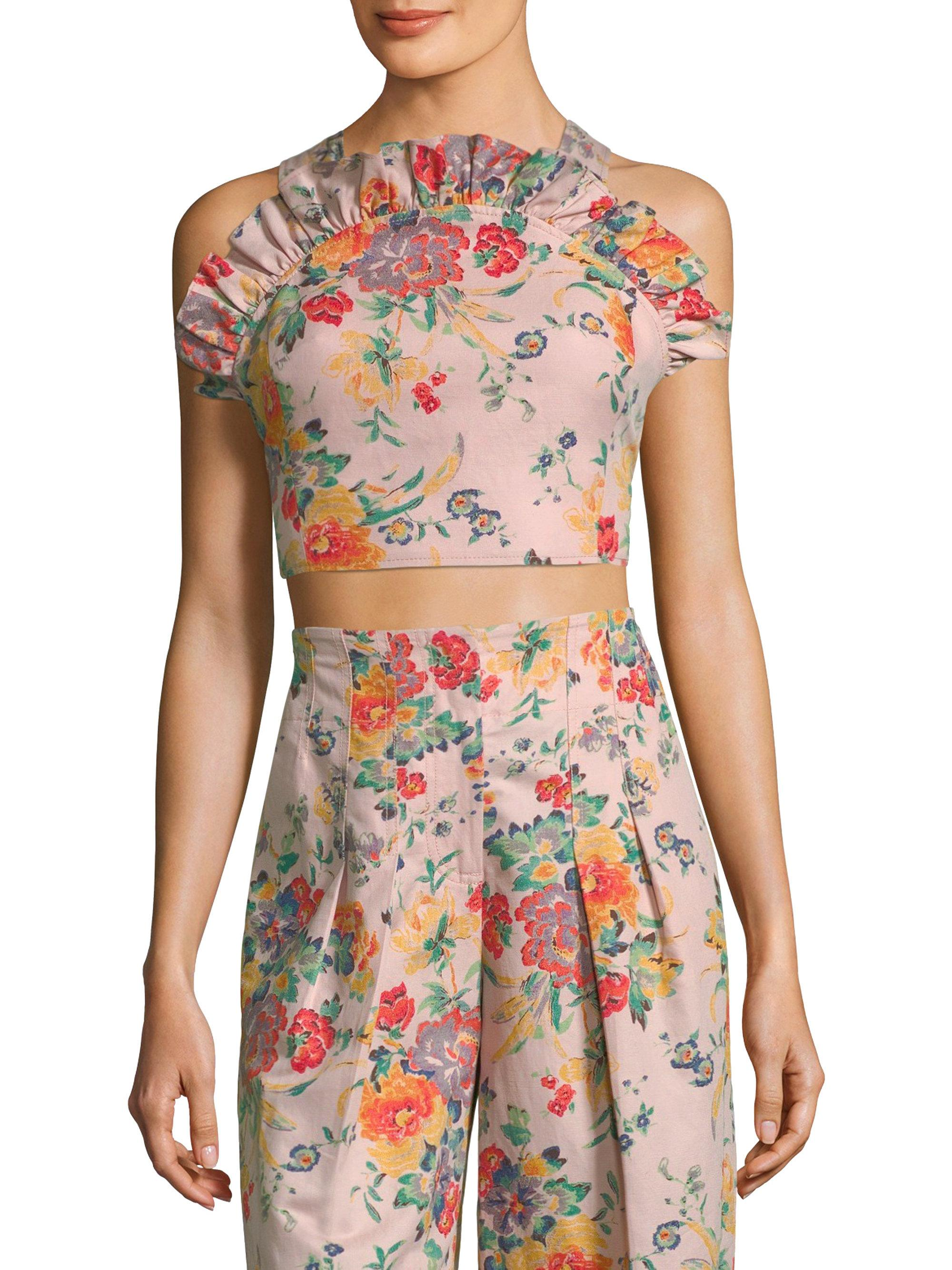 Lauren floral-print cotton-poplin dress Rebecca Taylor hcMiX