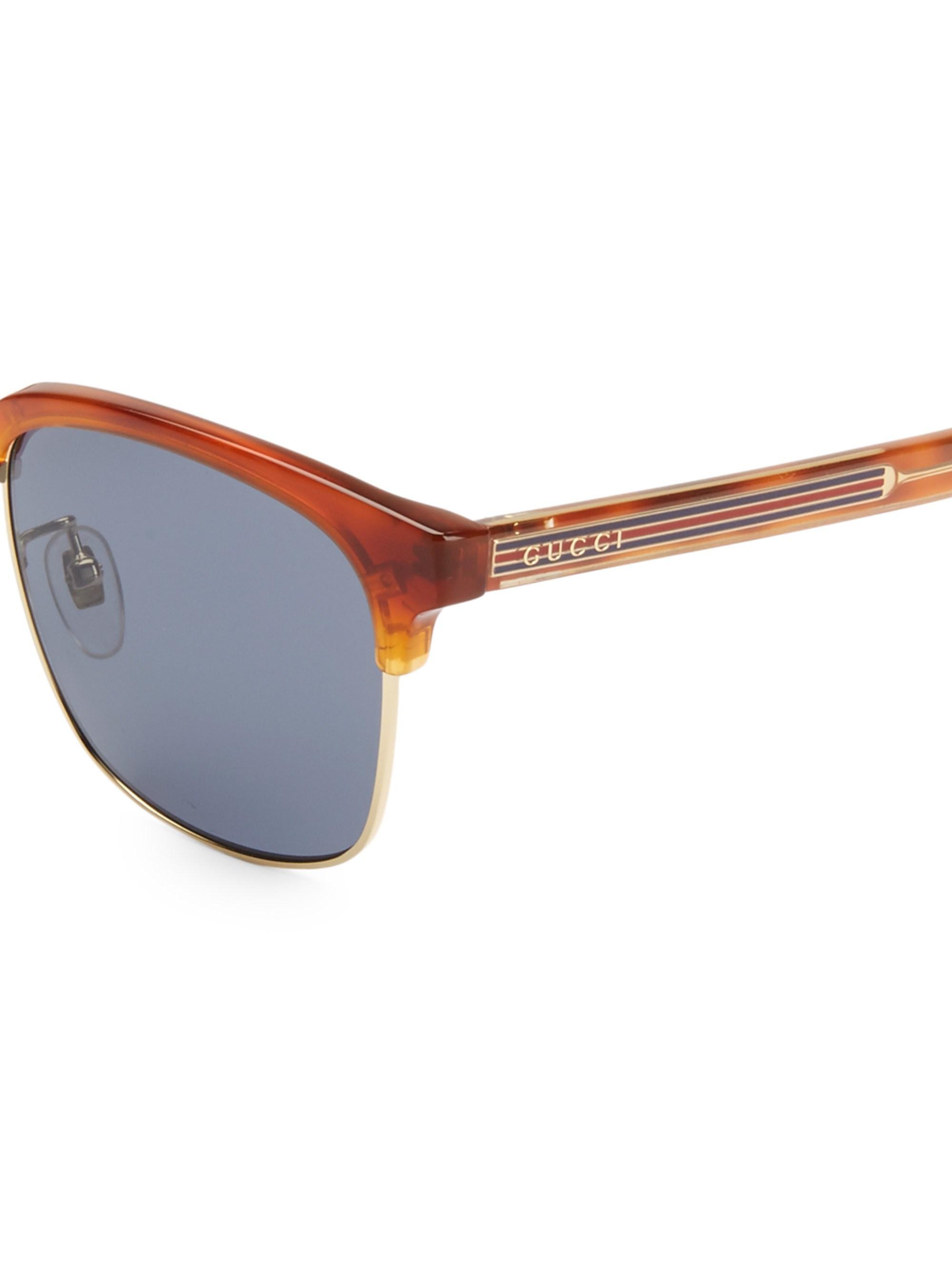 34c6dc9e15 Gucci Men s 56mm Round Havana Sunglasses - Havana in Blue for Men - Lyst