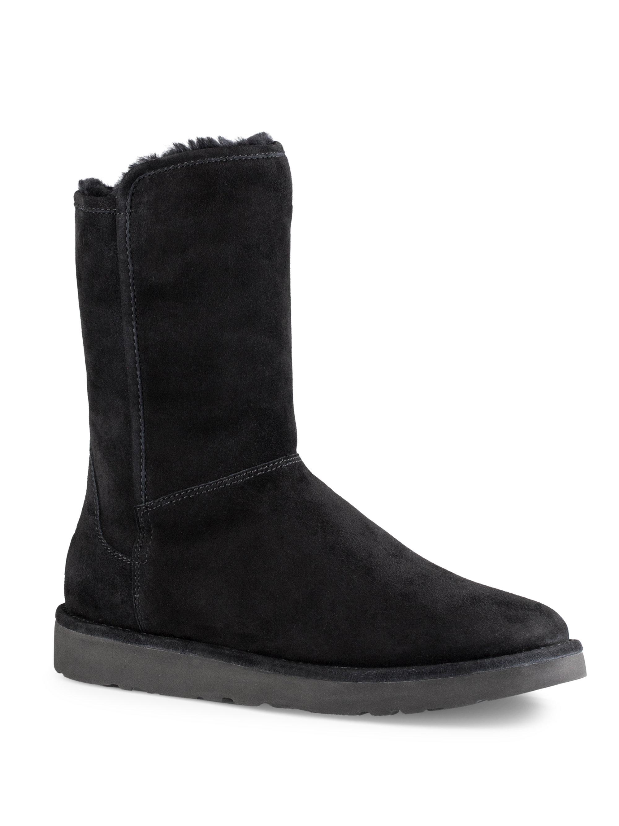 UGG® Abree Short II Suede Slip-On Sheepskin Lined Boots