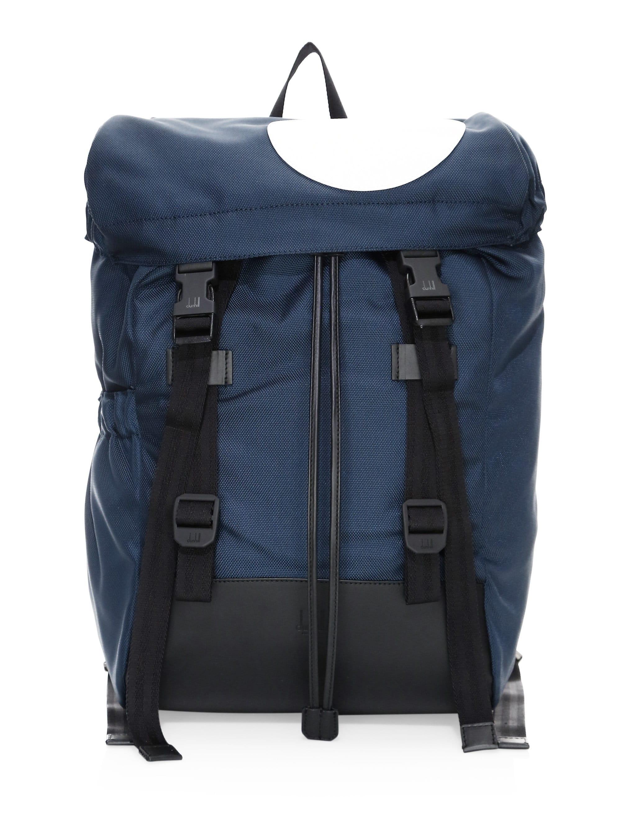 Lyst - Dunhill Men s Radial Large Backpack - Navy in Blue for Men 65c5ca553cec3