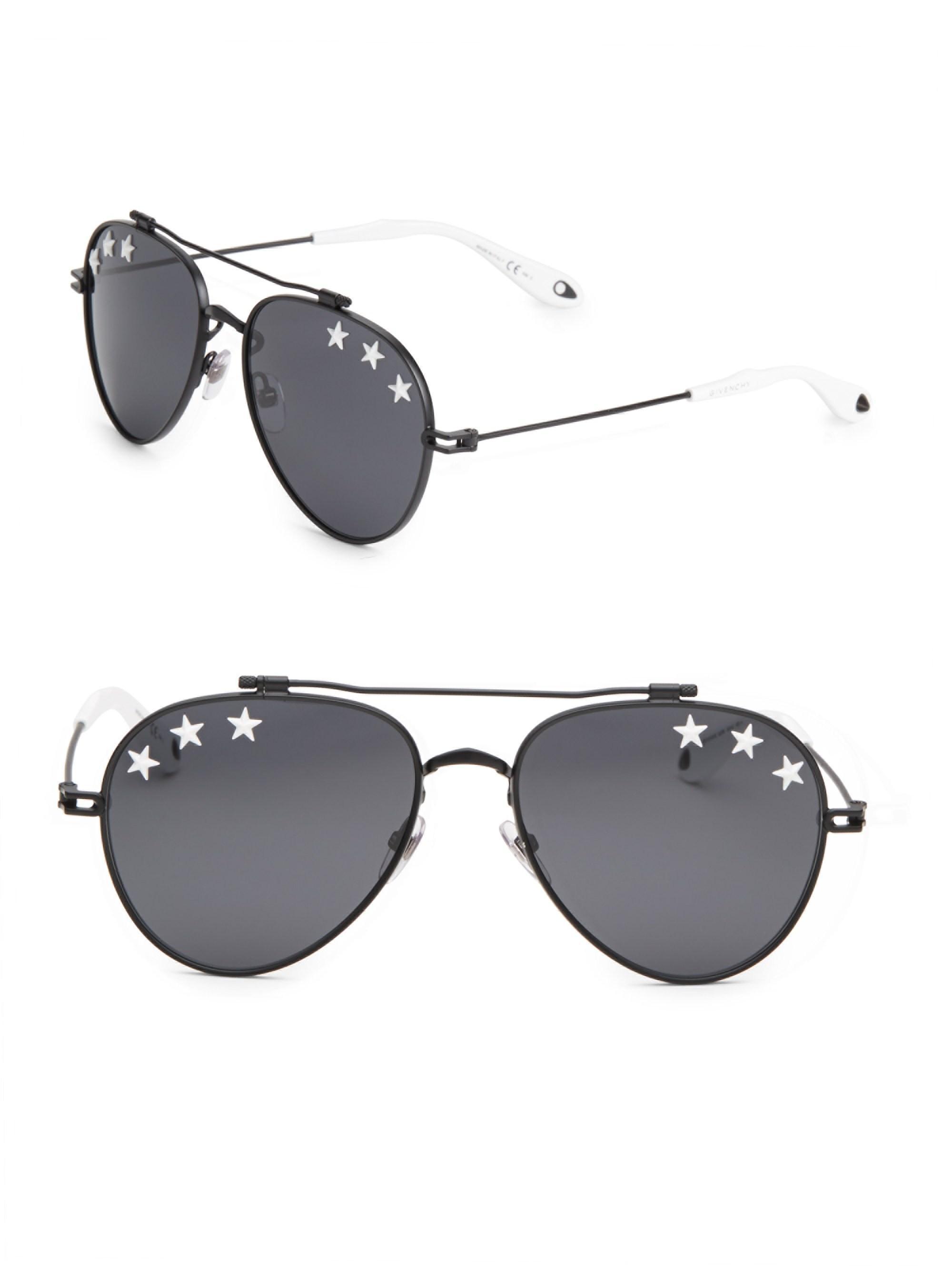 20ec8a13b57fa Givenchy 58mm Star Aviator Sunglasses for Men - Lyst