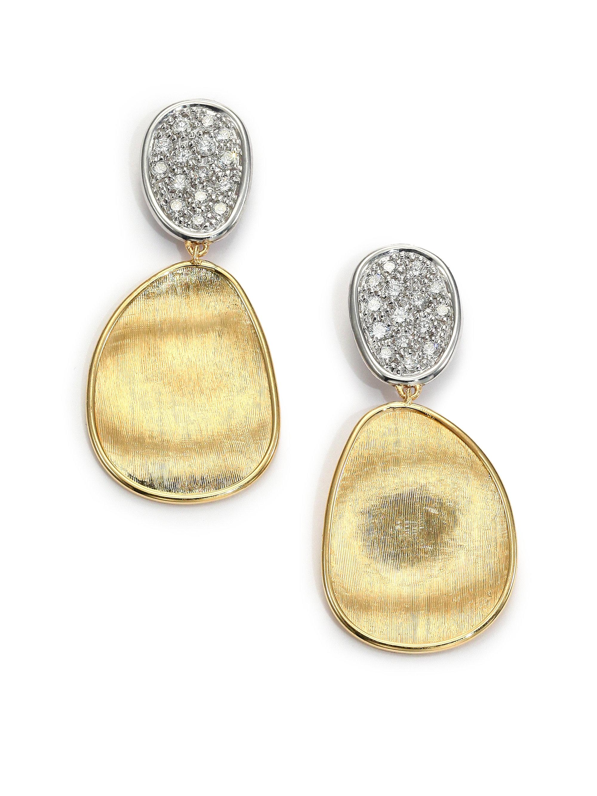 jaipur linear stone semiprecious yellow blue earrings topaz product marco bicego gold
