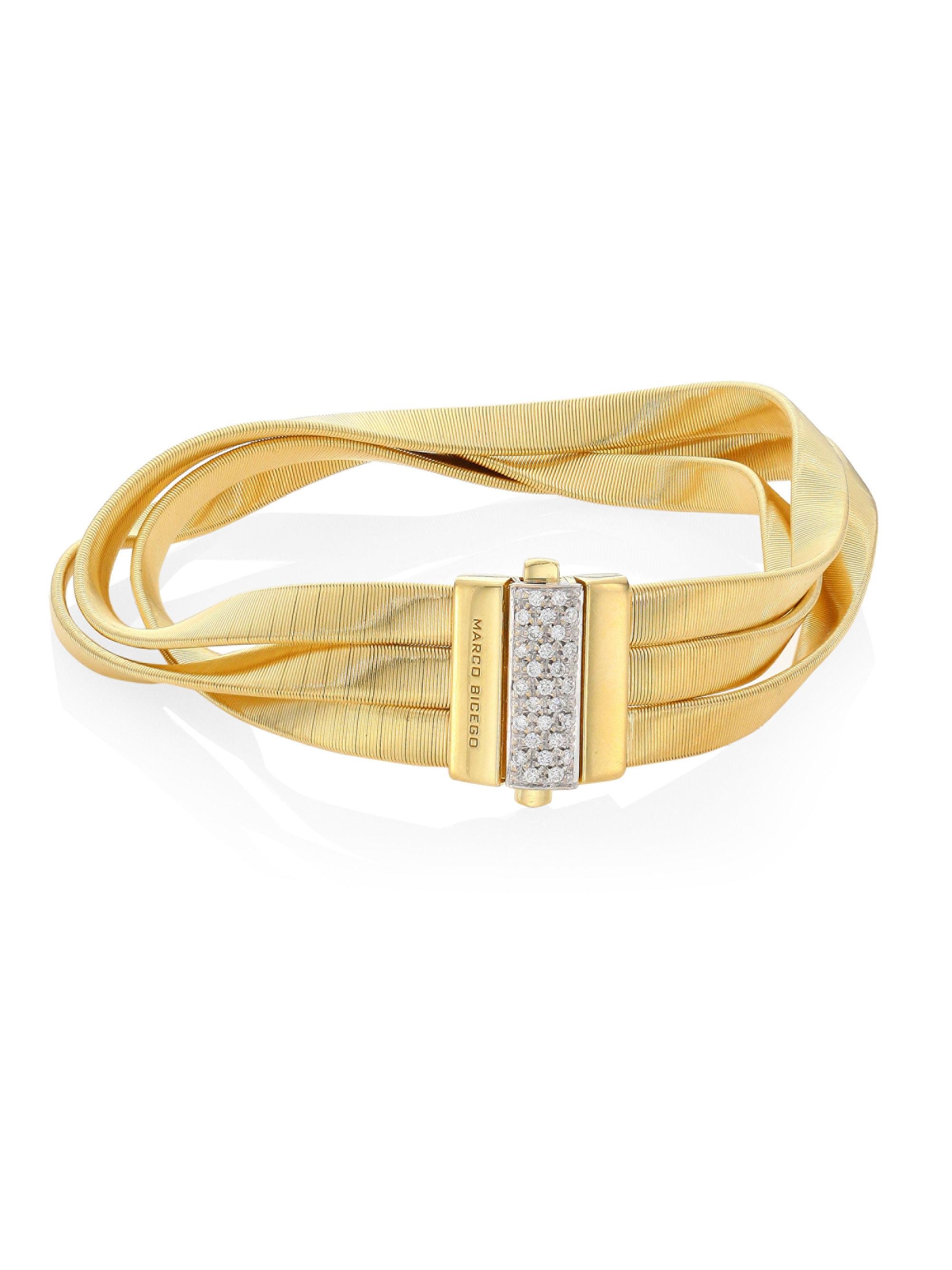 Marco Bicego Marrakech Supreme 18k Twisted Bracelet, Yellow Gold
