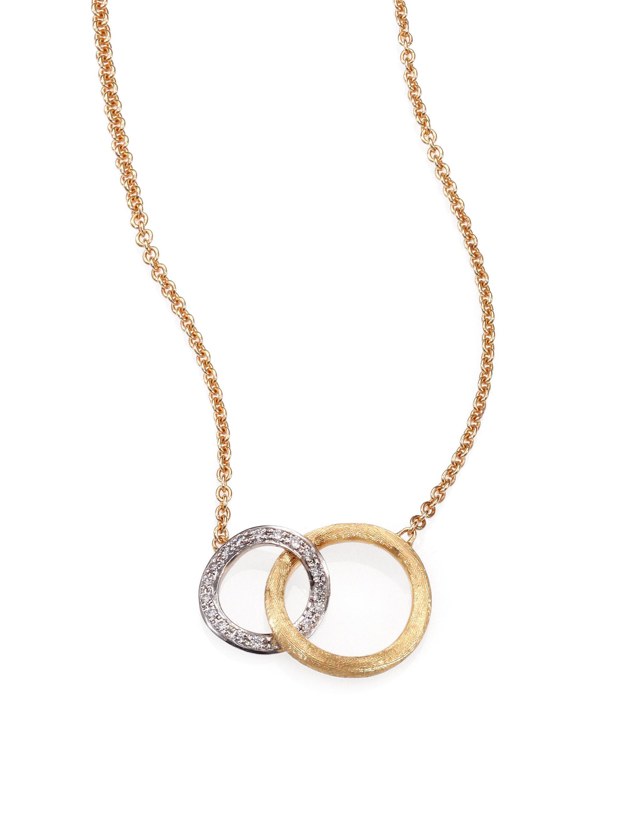 Lyst marco bicego jaipur link diamond 18k white yellow gold marco bicego womens metallic jaipur link diamond 18k white yellow gold pendant necklace aloadofball Gallery
