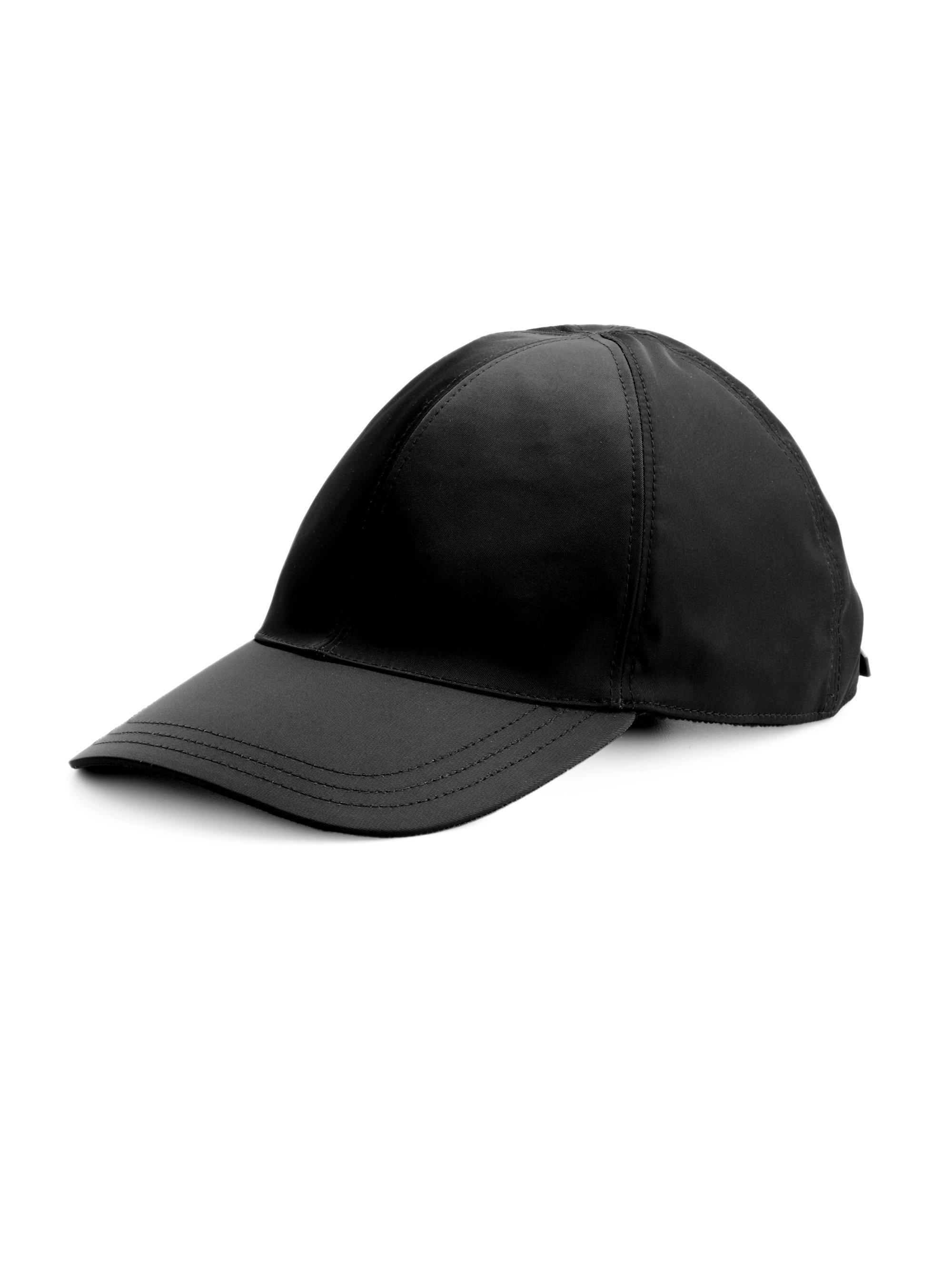 46849edbb Prada Nylon Baseball Cap in Black for Men - Lyst