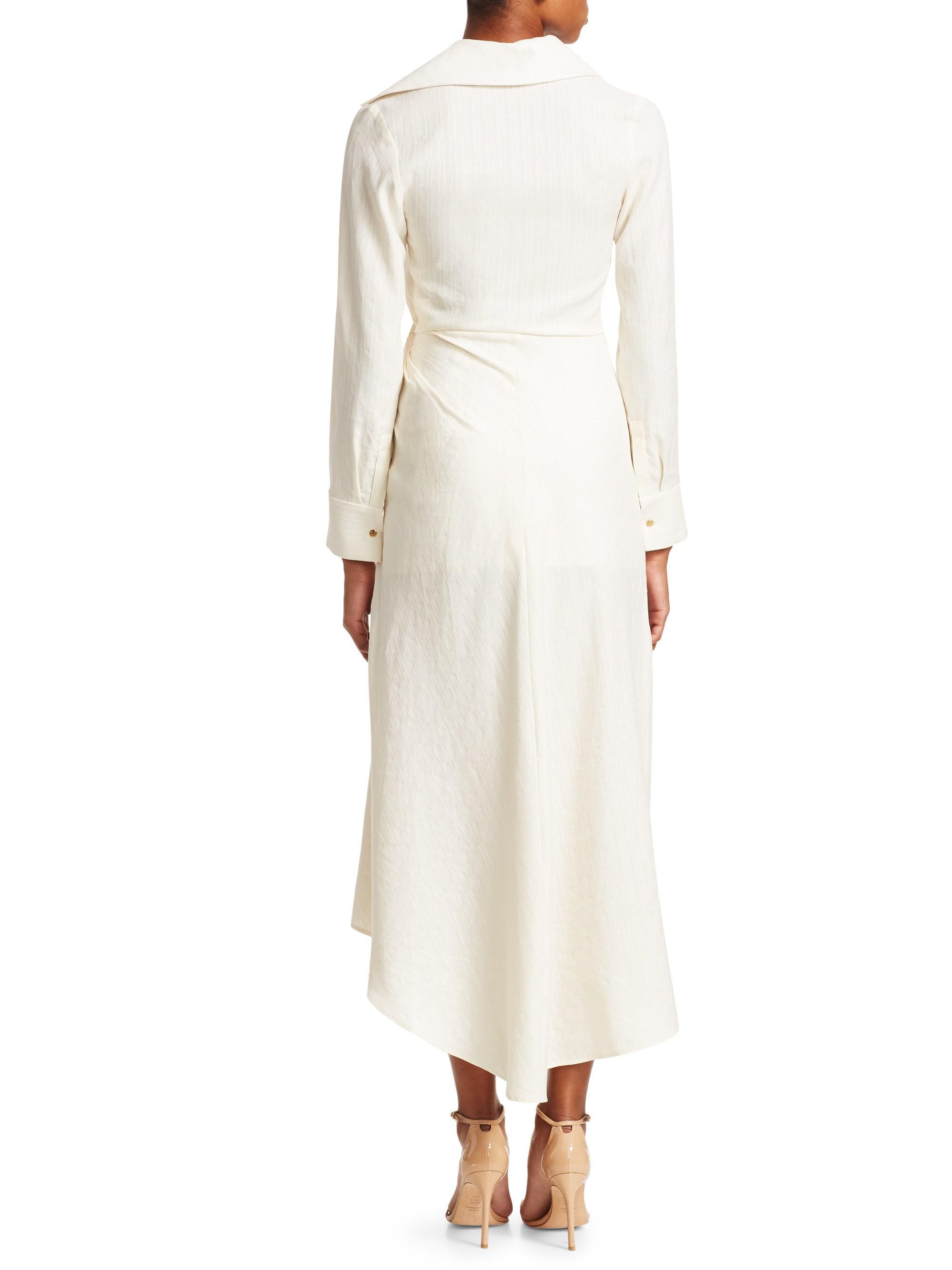 892281b3cc Lyst - Jacquemus Sabah Linen Faux Wrap Maxi Dress in Natural