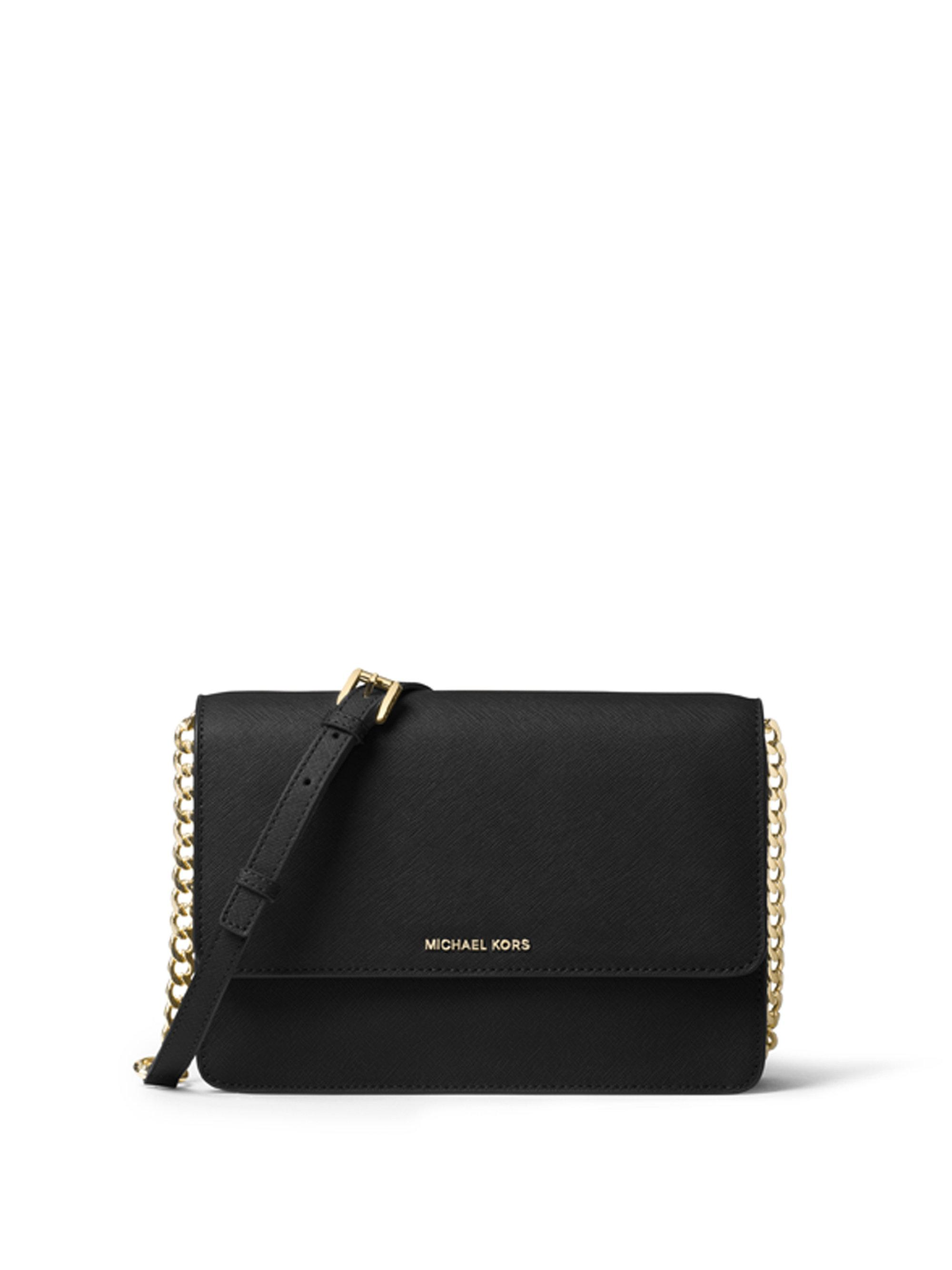 ef0965cda7509 Lyst - Michael Michael Kors Grained Leather Crossbody in Black