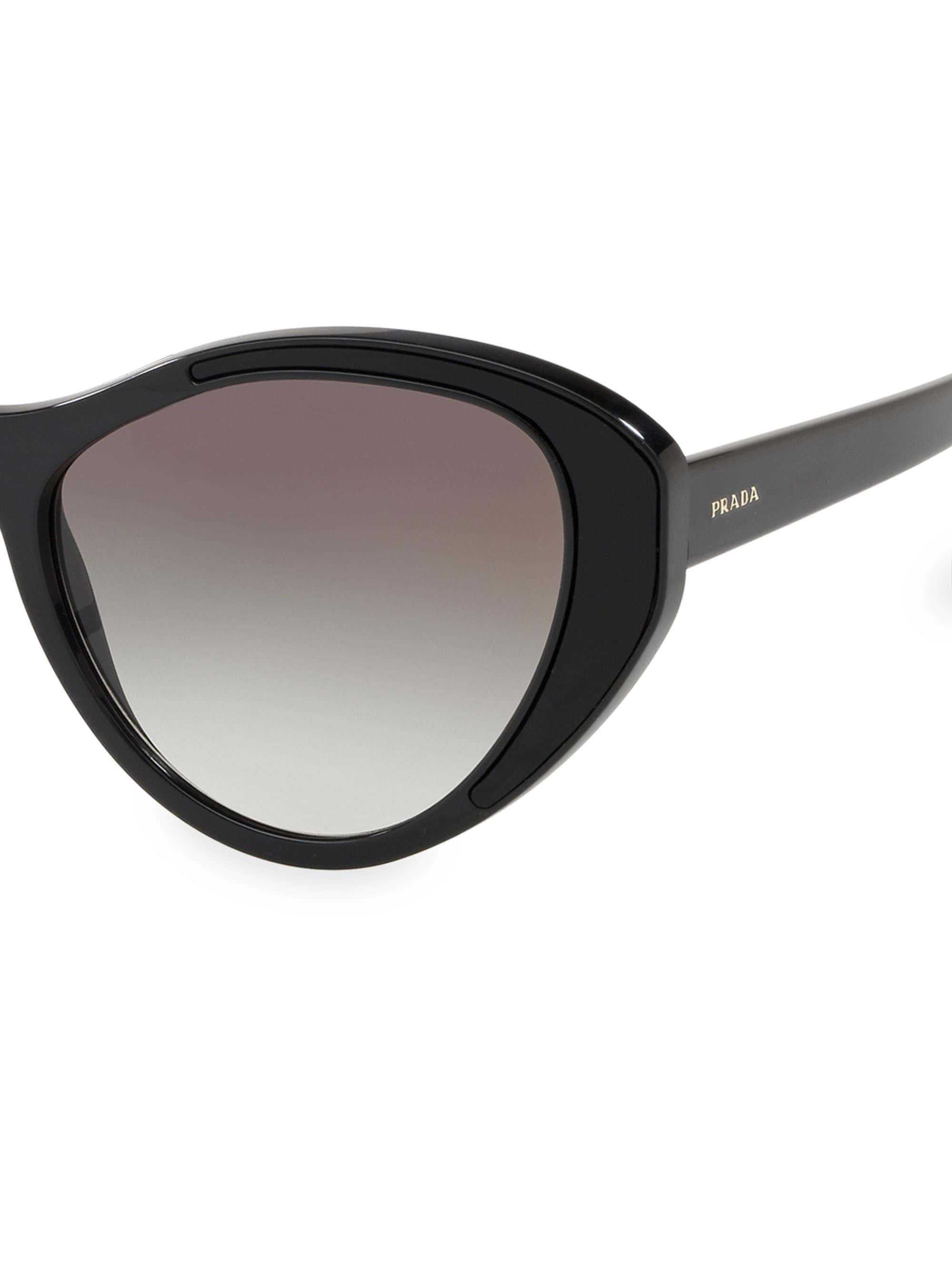 d8352b624d Prada - Black 55mm Butterfly Sunglasses - Lyst. View fullscreen
