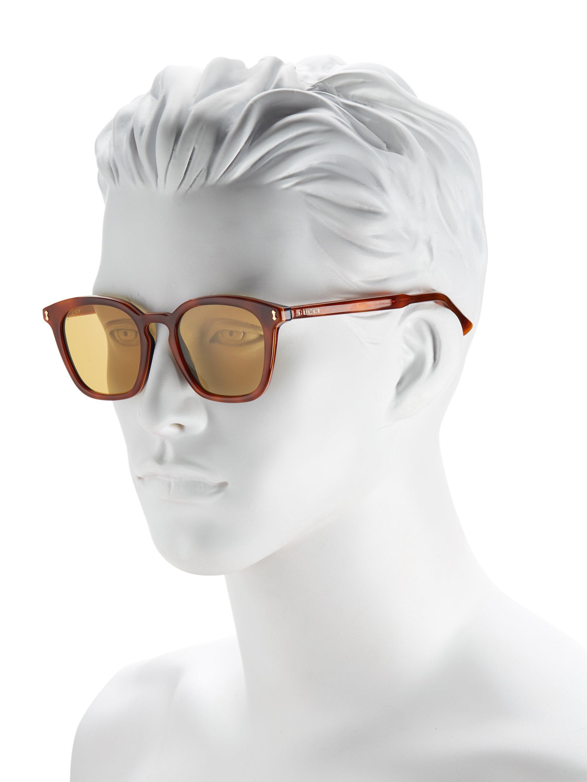 4e6ef906994f4 Lyst - Gucci 49mm Square Sunglasses for Men