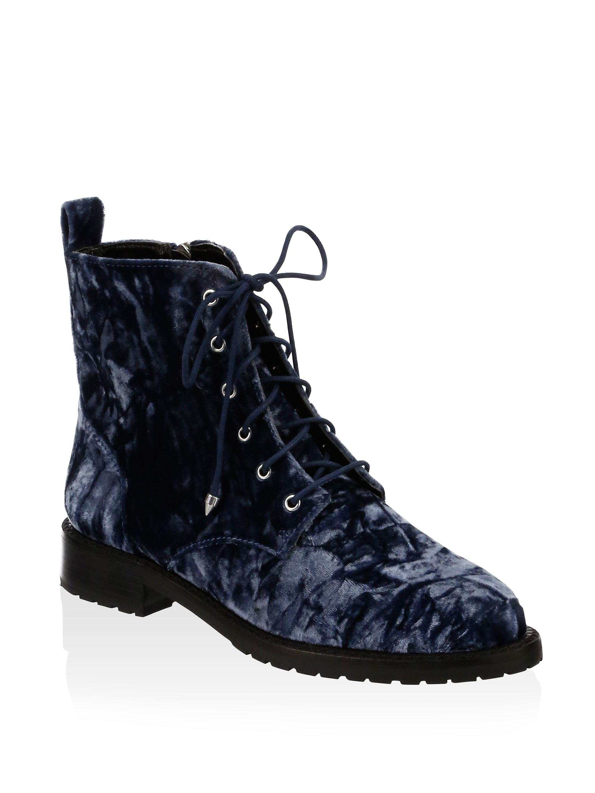 discount new arrival Rebecca Minkoff Velvet Combat Boots pay with paypal online outlet comfortable recommend online WP2KJIe