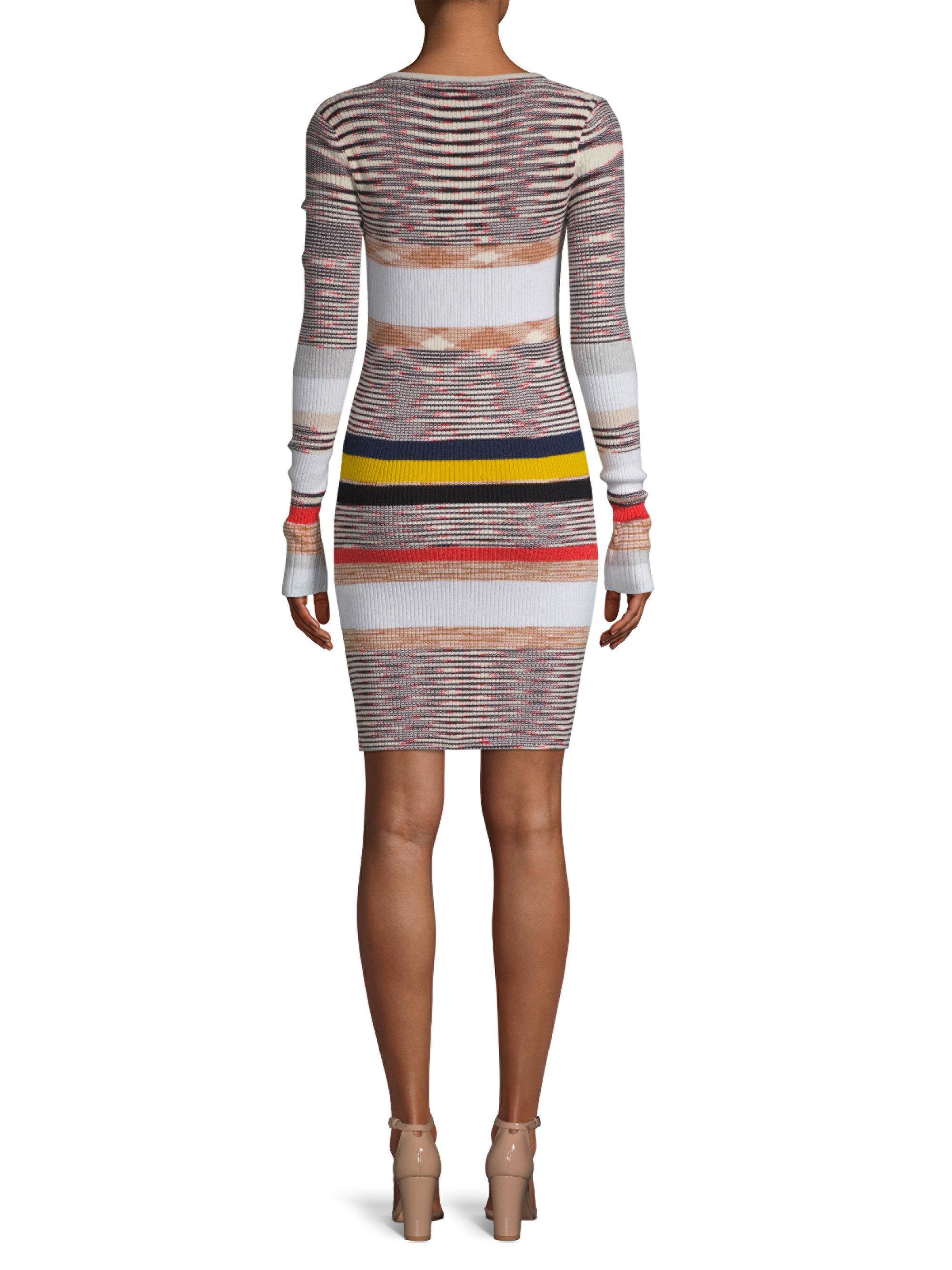 Missoni Multicolor Cashmere Striped Sweater Dress Lyst View Fullscreen