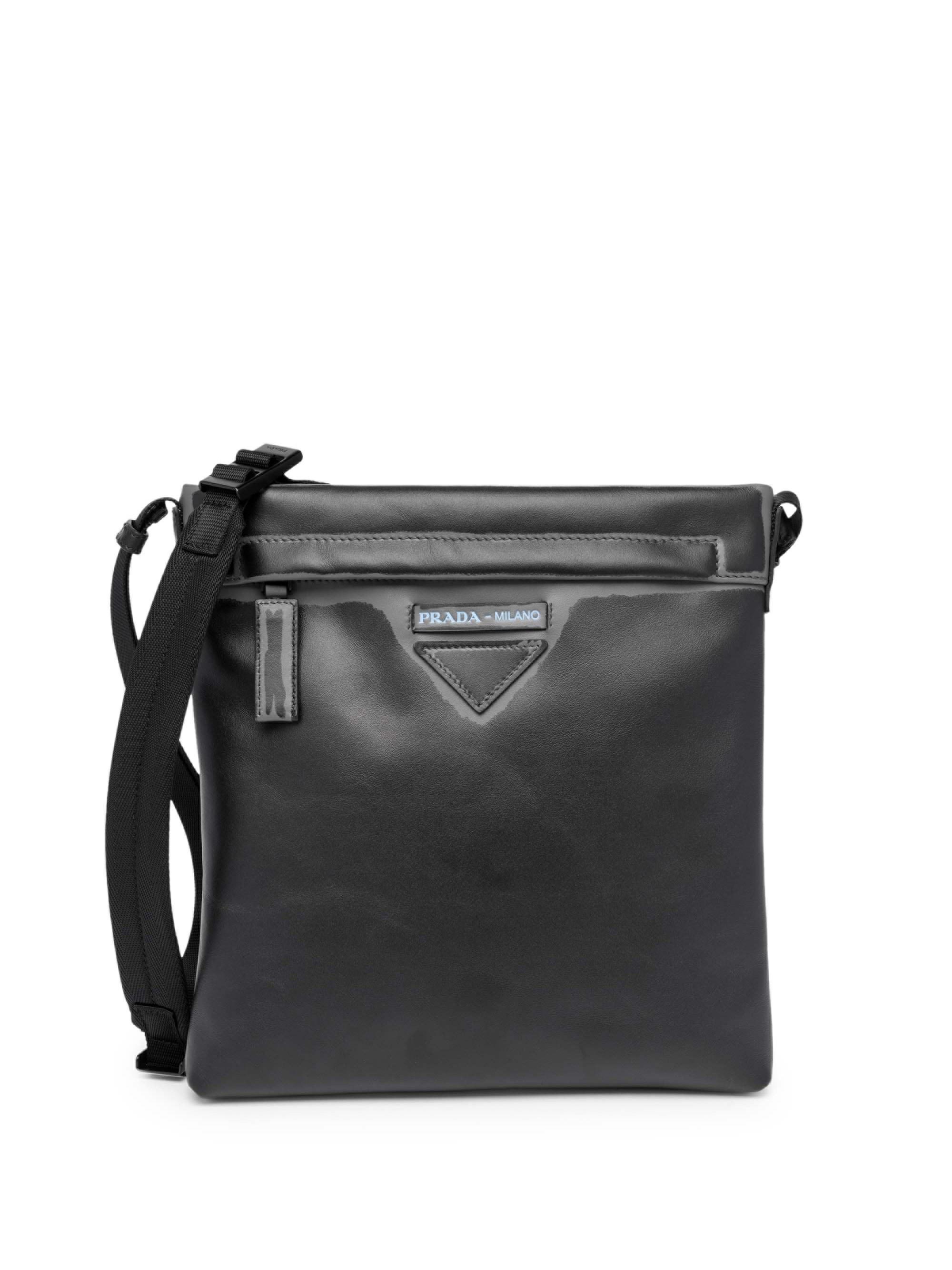 d21cbf731c8a Lyst - Prada Men s Grace Lux Print Leather Messenger Bag - Black in ...