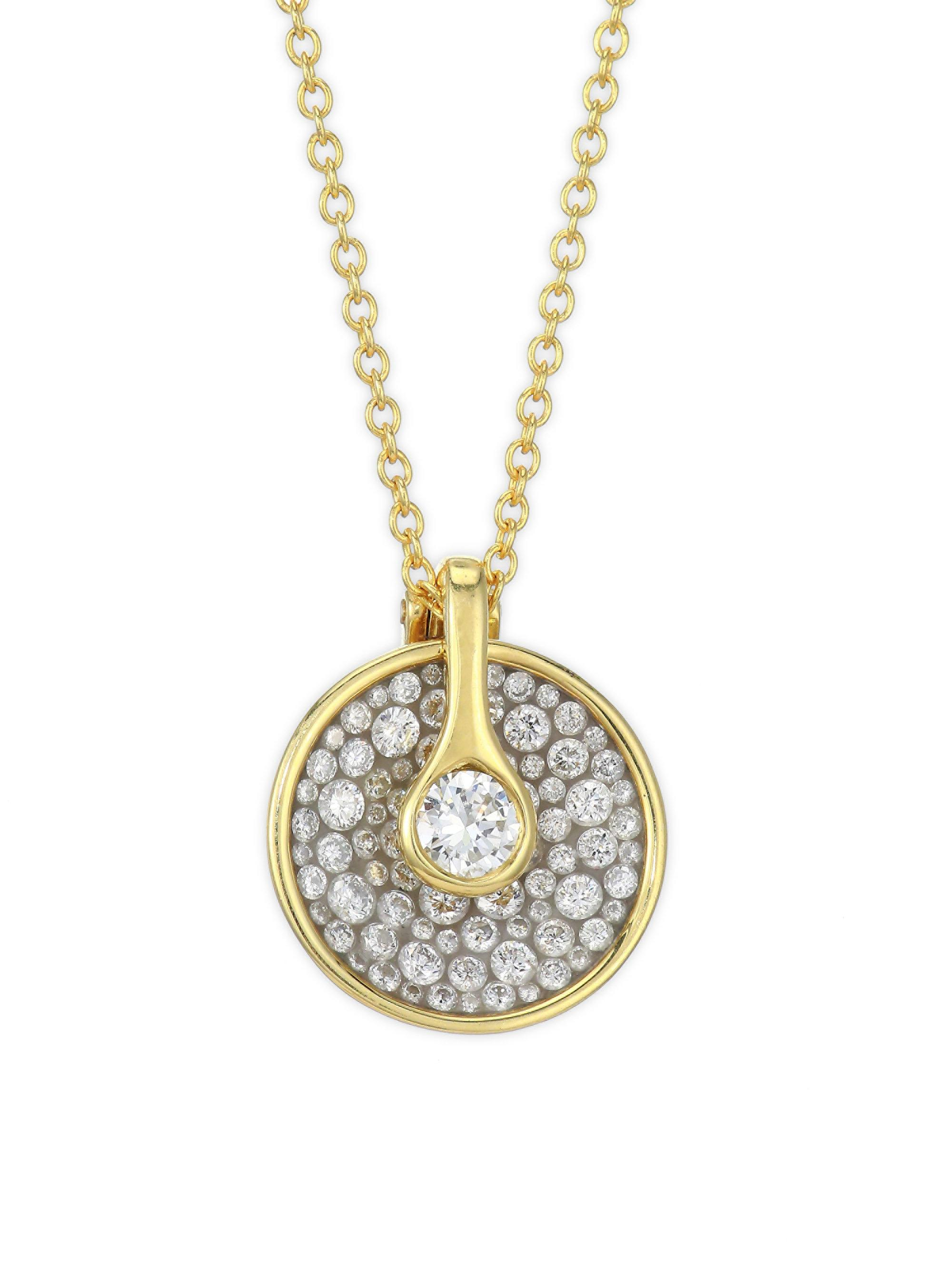 circle love in necklace gold diamond endless white tw